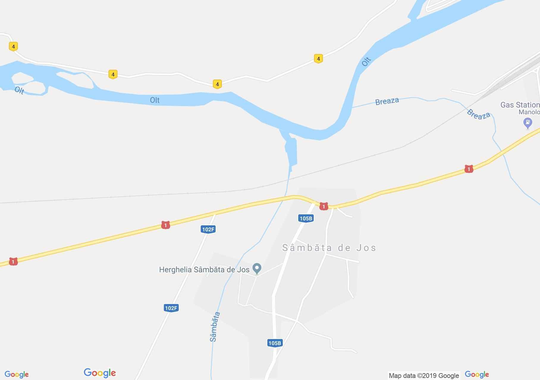 Map of Sâmbata de Jos: Brukenthal Castle