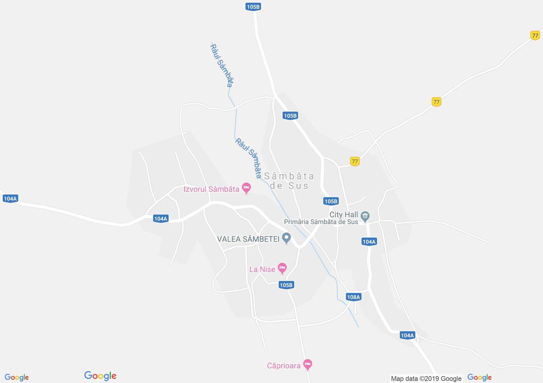 Hartă Sâmbăta de Sus: Palatul Brancoveanu