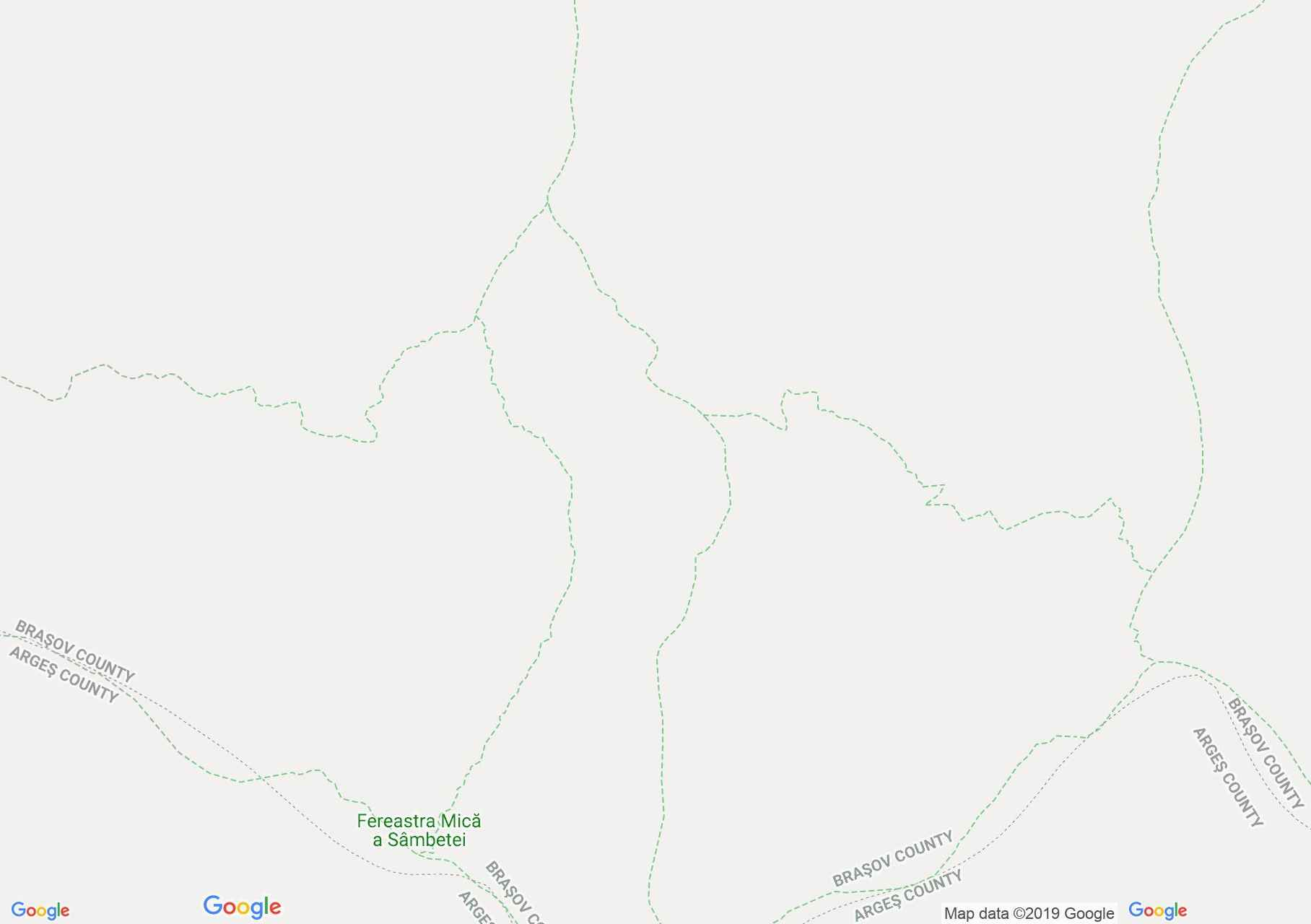 Hartă Munţii Făgăraş: Cabana Vales Sâmbetei - Fereastra Mare