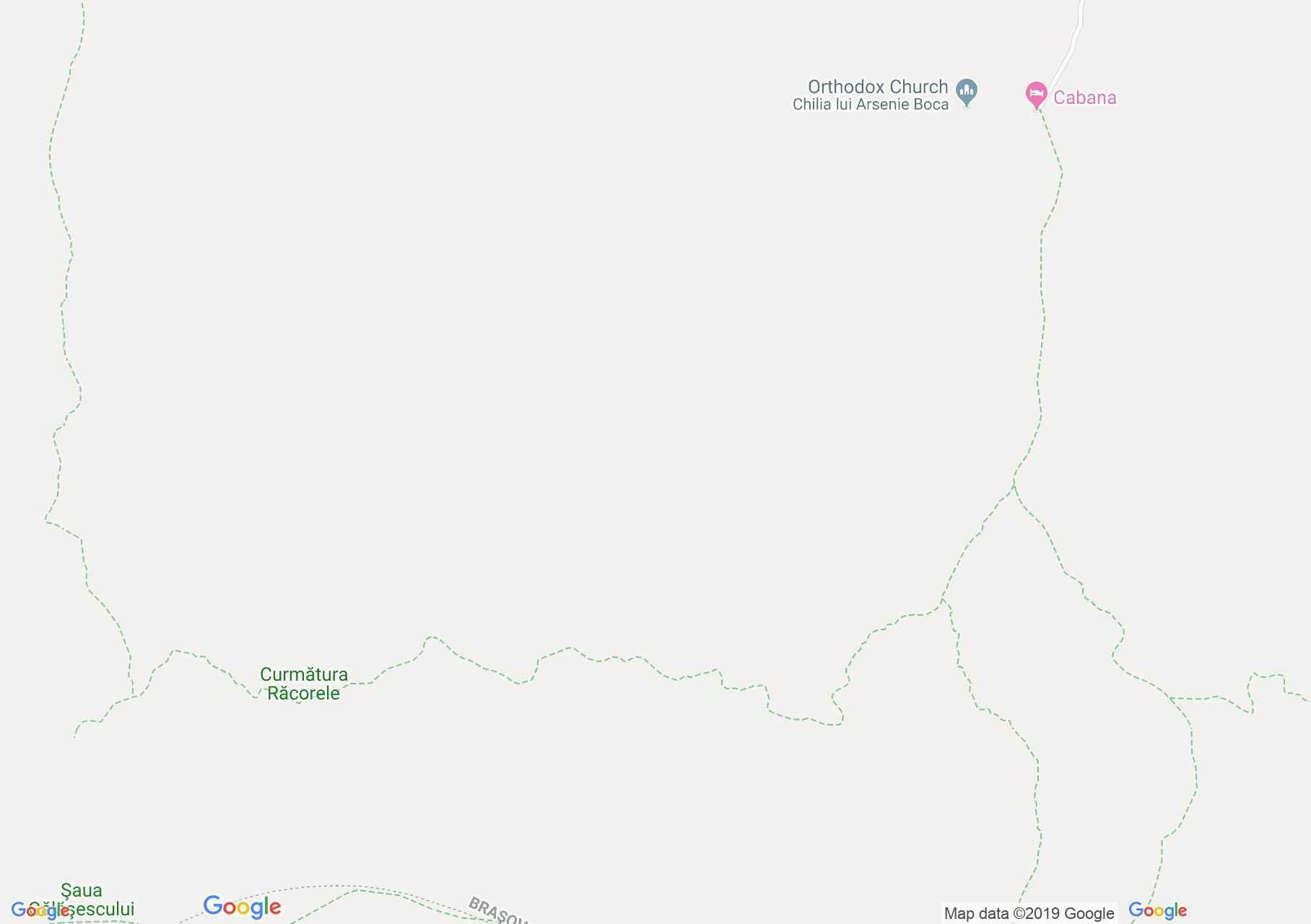 Hartă Munţii Făgăraş: Cabana Valea Sâmbetei - Şaua Răcorele