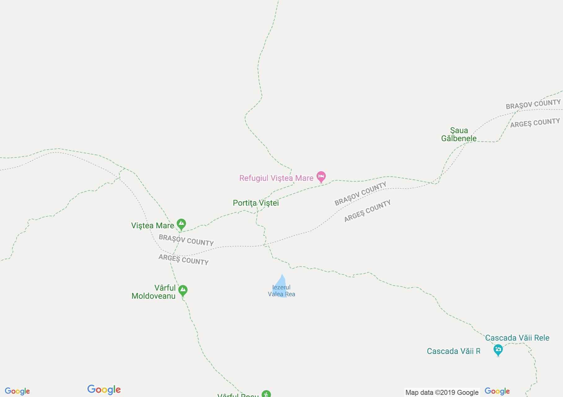 Hartă Munţii Făgăraş: Iezerul Triunghiular