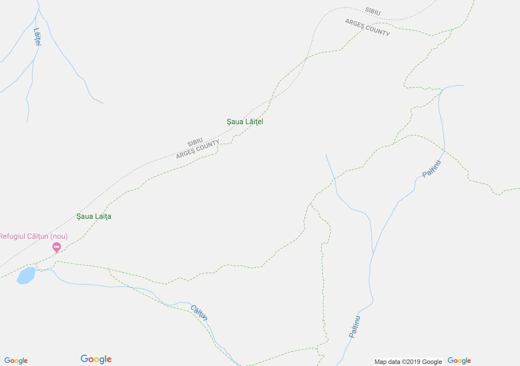 Hartă Munţii Făgăraş: Lacul Călţun - Tunelul Transfăgărăşan