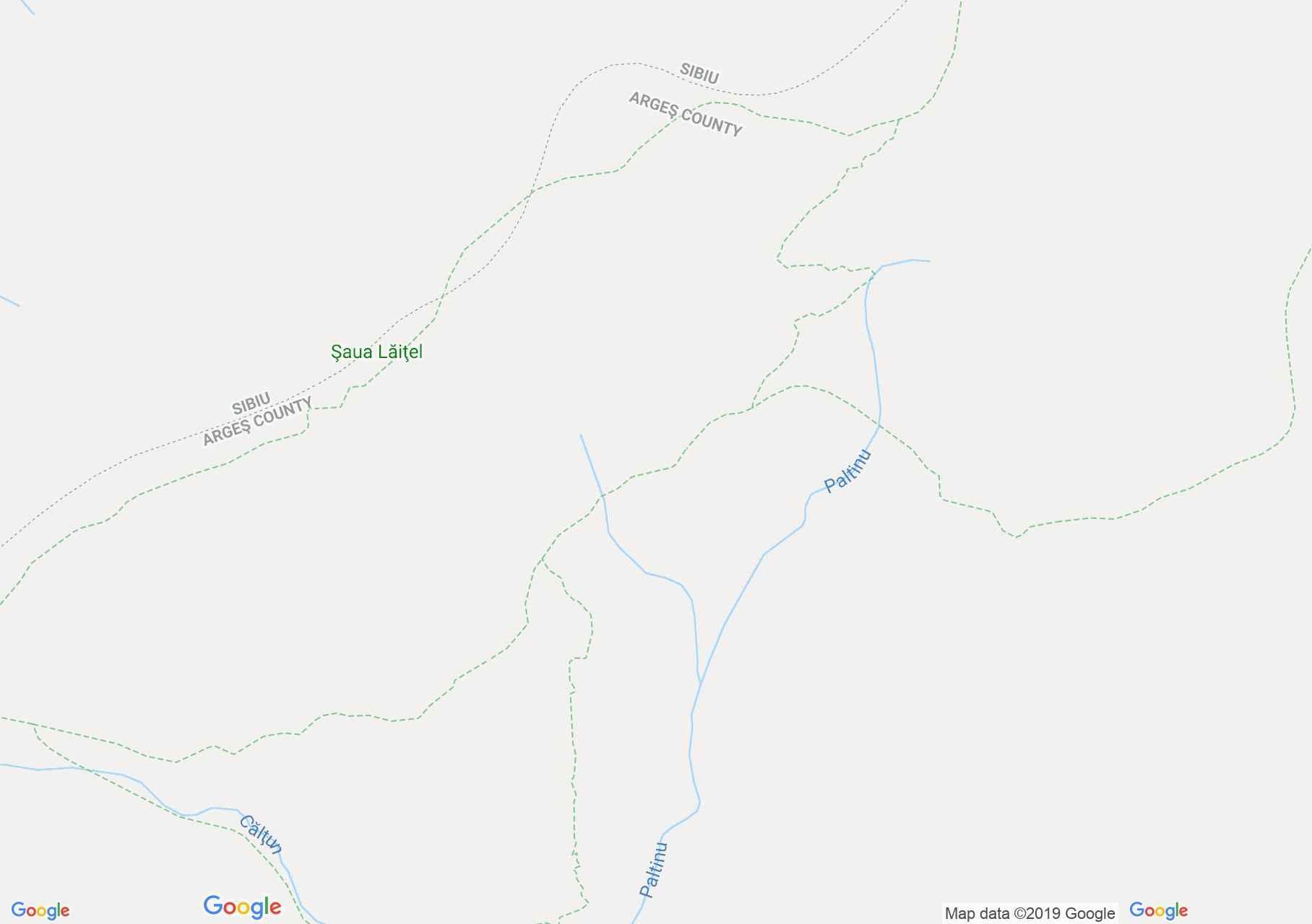 Hartă Munţii Făgăraş: Piscul Negru-Şaua Paltinului