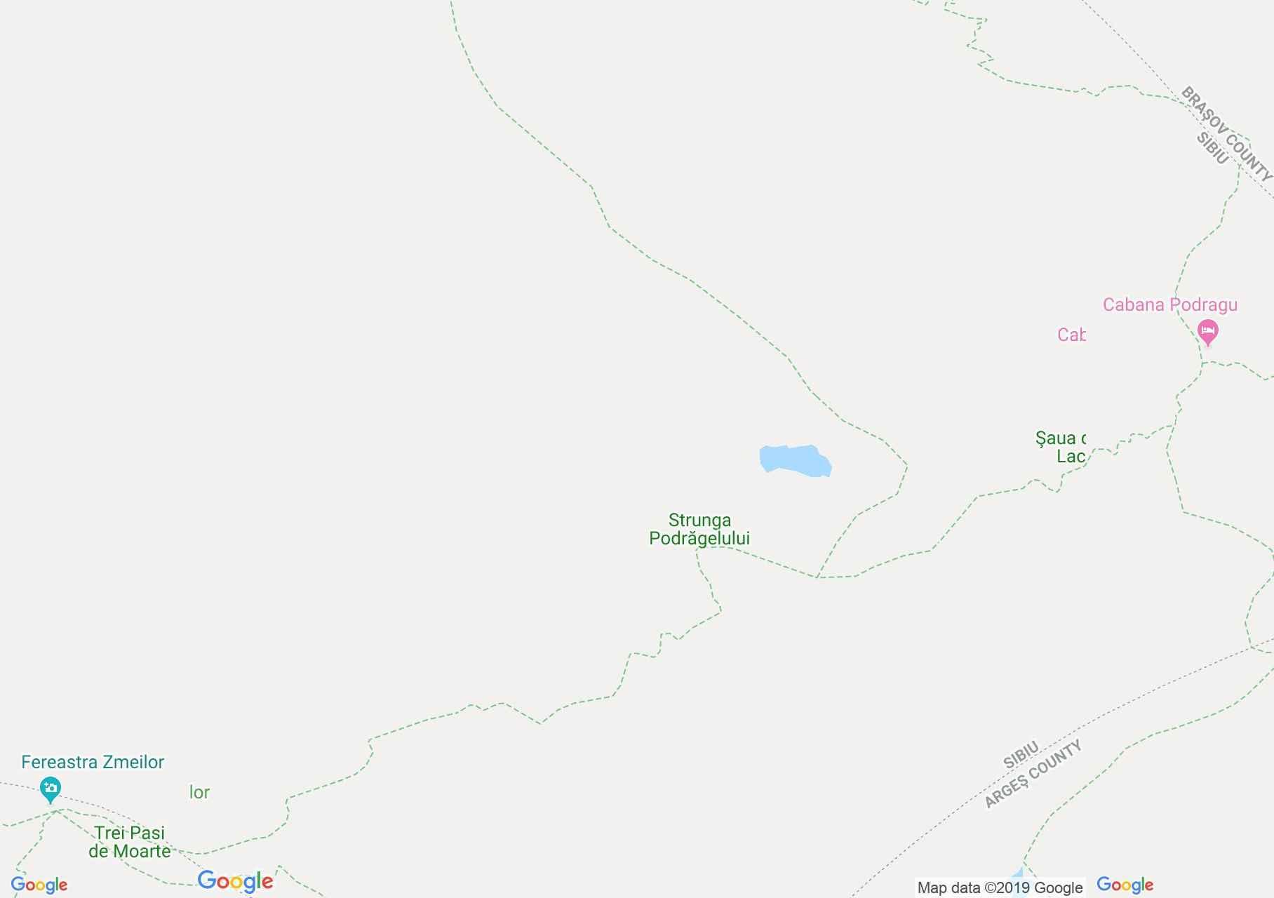Fogarasi havasok: Podragu turistaház - Árpás kapuja (térkép)