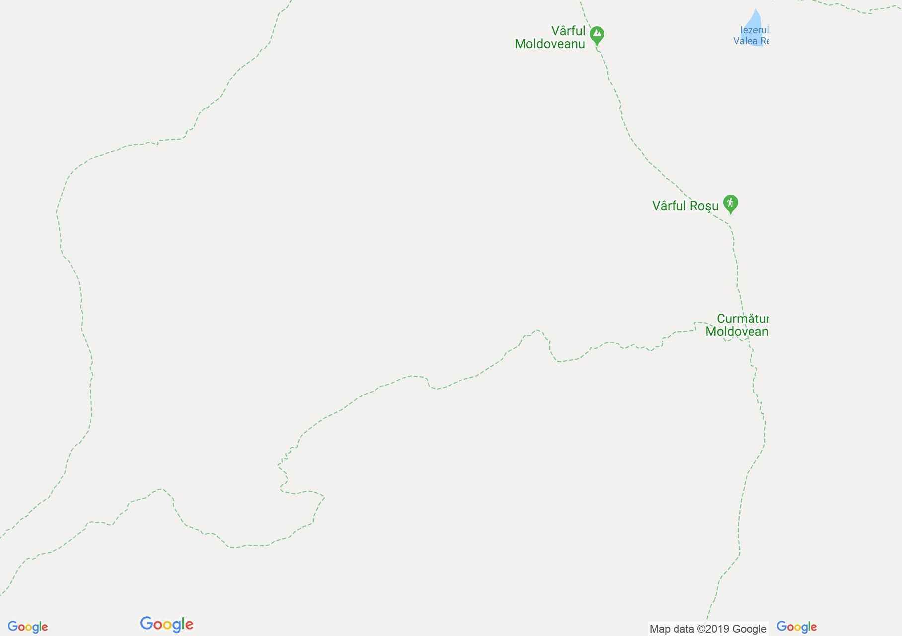 Hartă Munţii Făgăraş: Stânele din Podul Giurgiului - Curmătura Moldoveanu