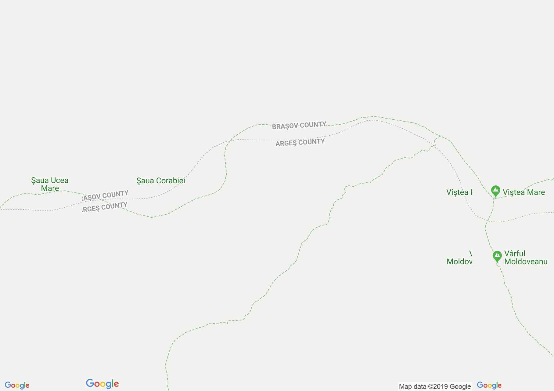 Hartă Munţii Făgăraş: Stânele din Podul Giurgiului - Şaua Orzanelei