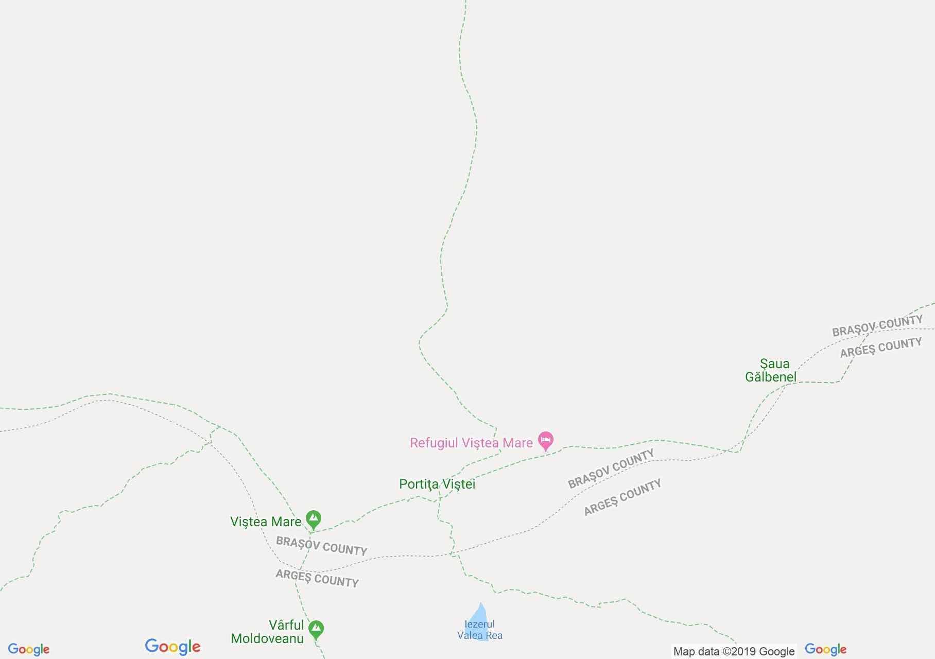 Hartă Munţii Făgăraş: Portita Viştei