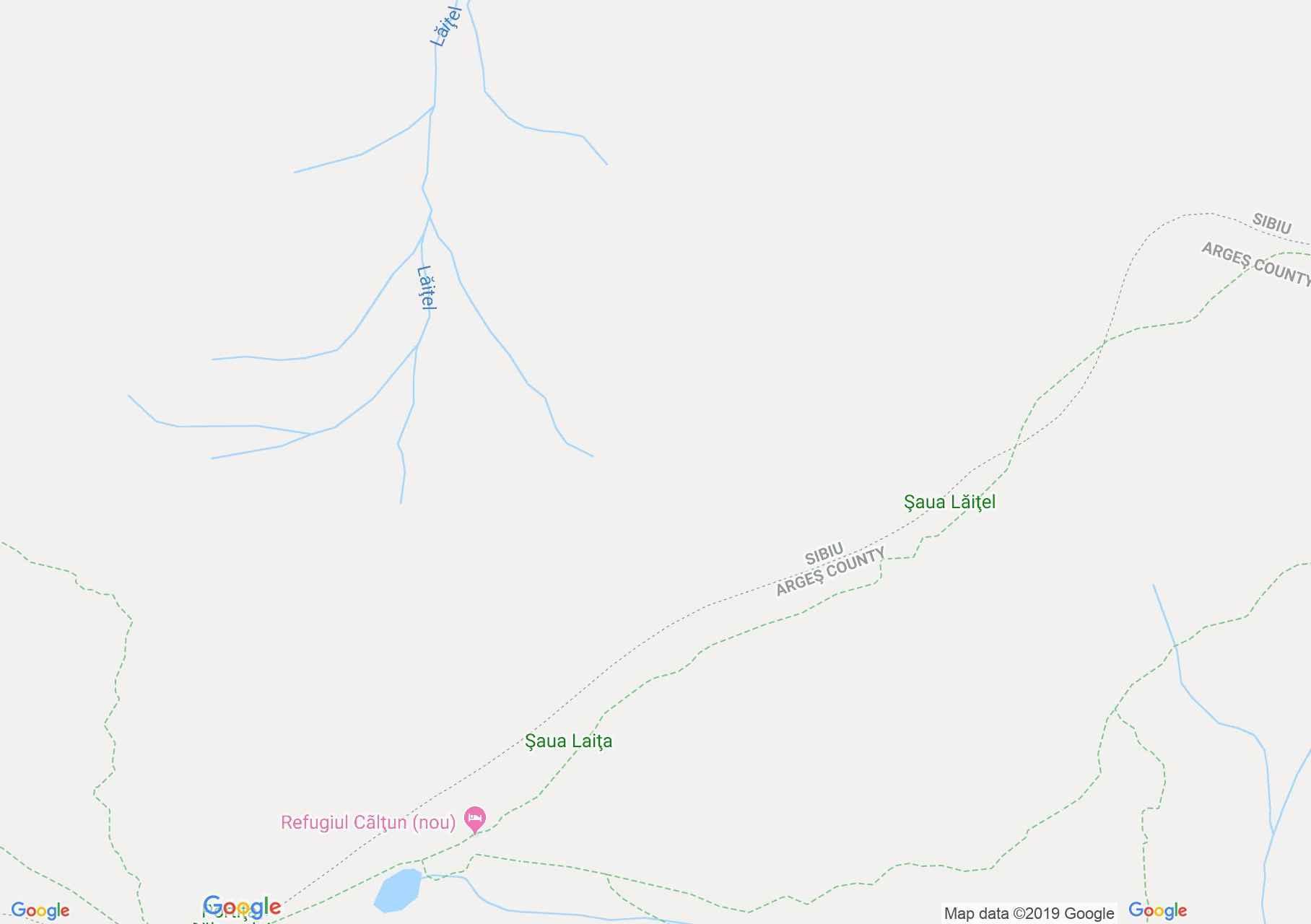 Hartă Munţii Făgăraş: Şaua Caprei-Vârful Negoiu