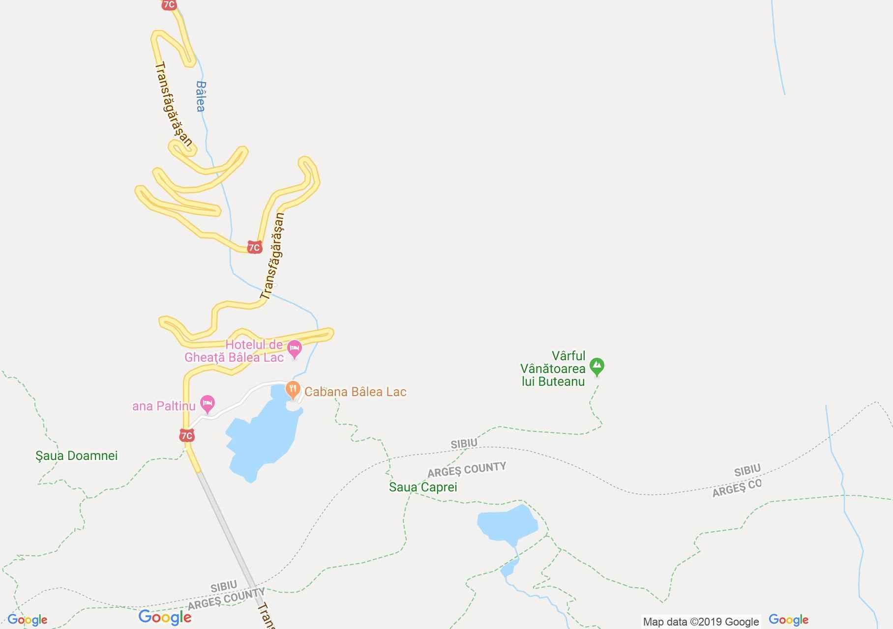 Fogarasi havasok: Zerge nyereg-Vânătoarea lui Buteanu (térkép)