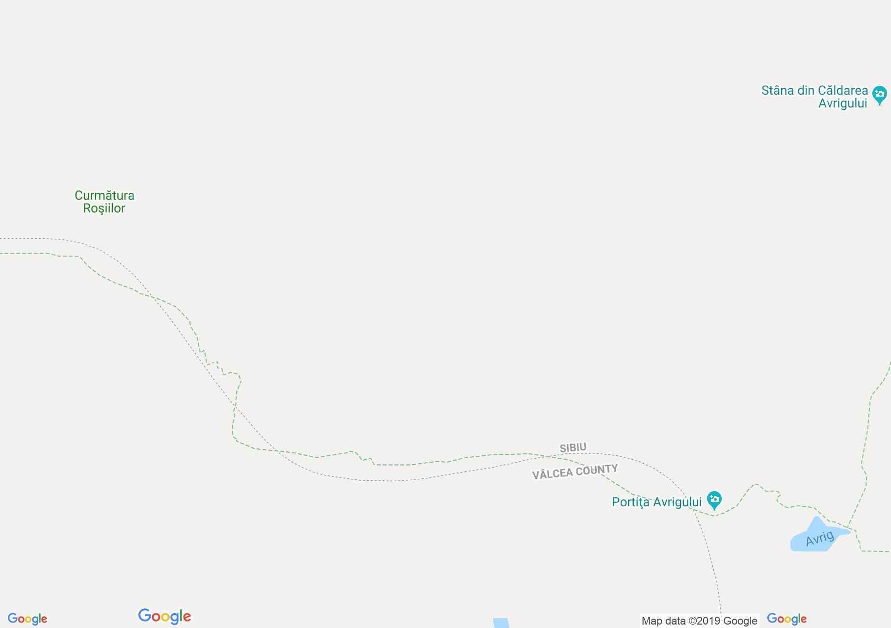 Fogarasi havasok: Szkára nyereg-Szuru nyereg (térkép)
