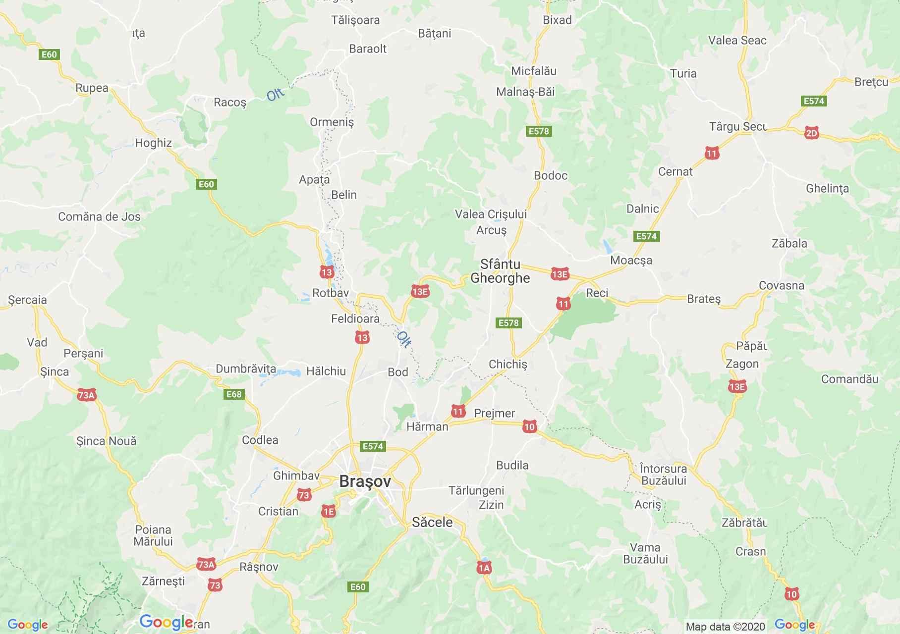 Folklor: Brassói népviselet  (térkép)