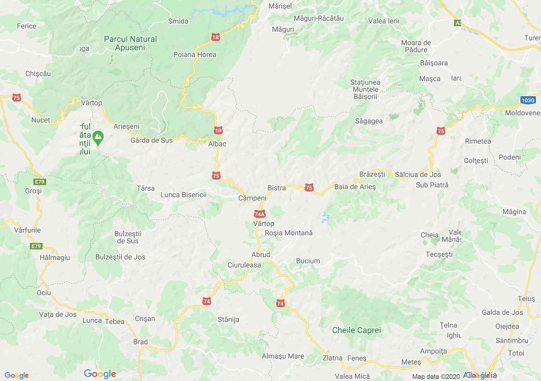 Folklor: Bucium Şasa-i népviselet  (térkép)
