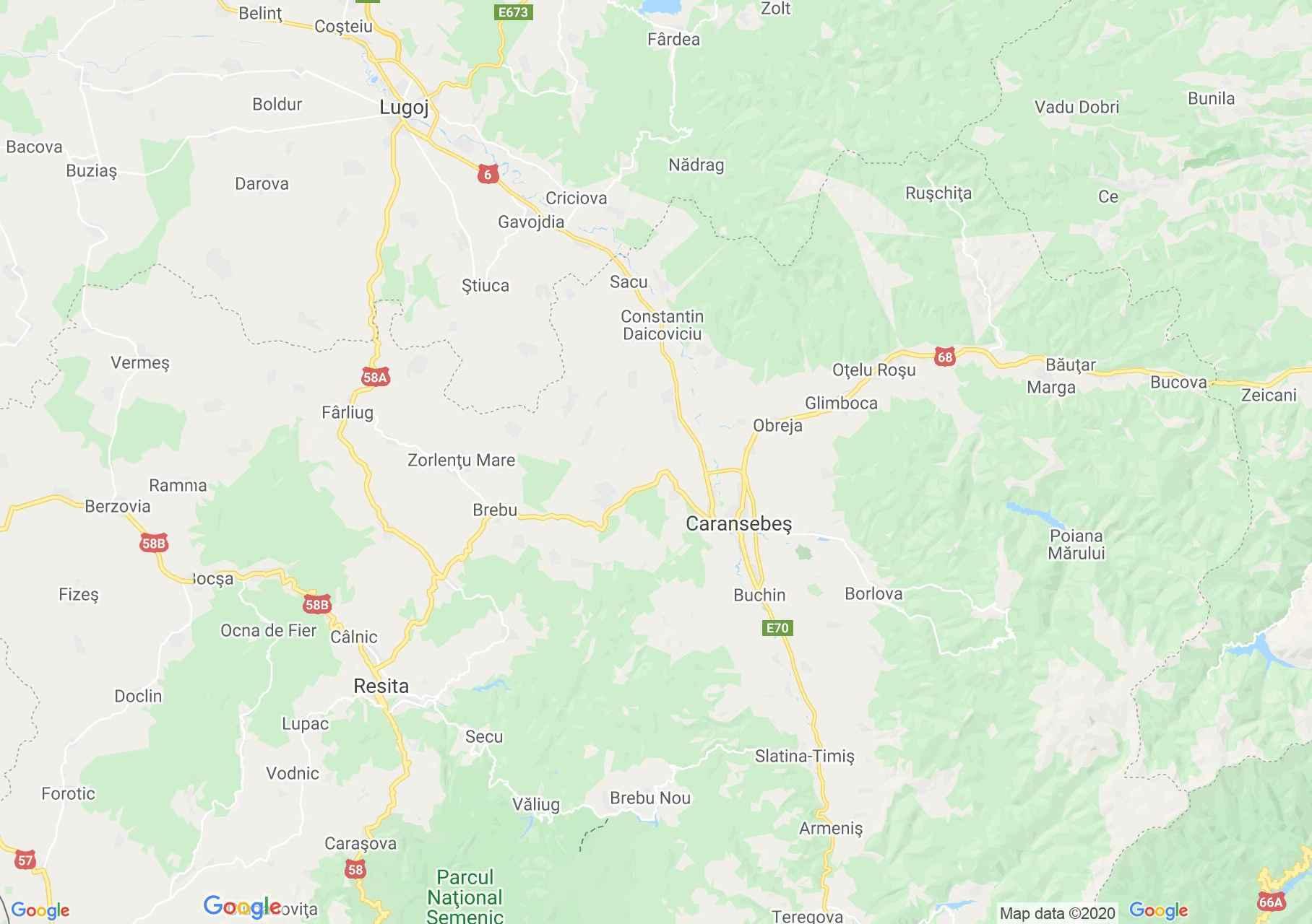 Folklor: Krassó-Szörényi népviselet  (térkép)