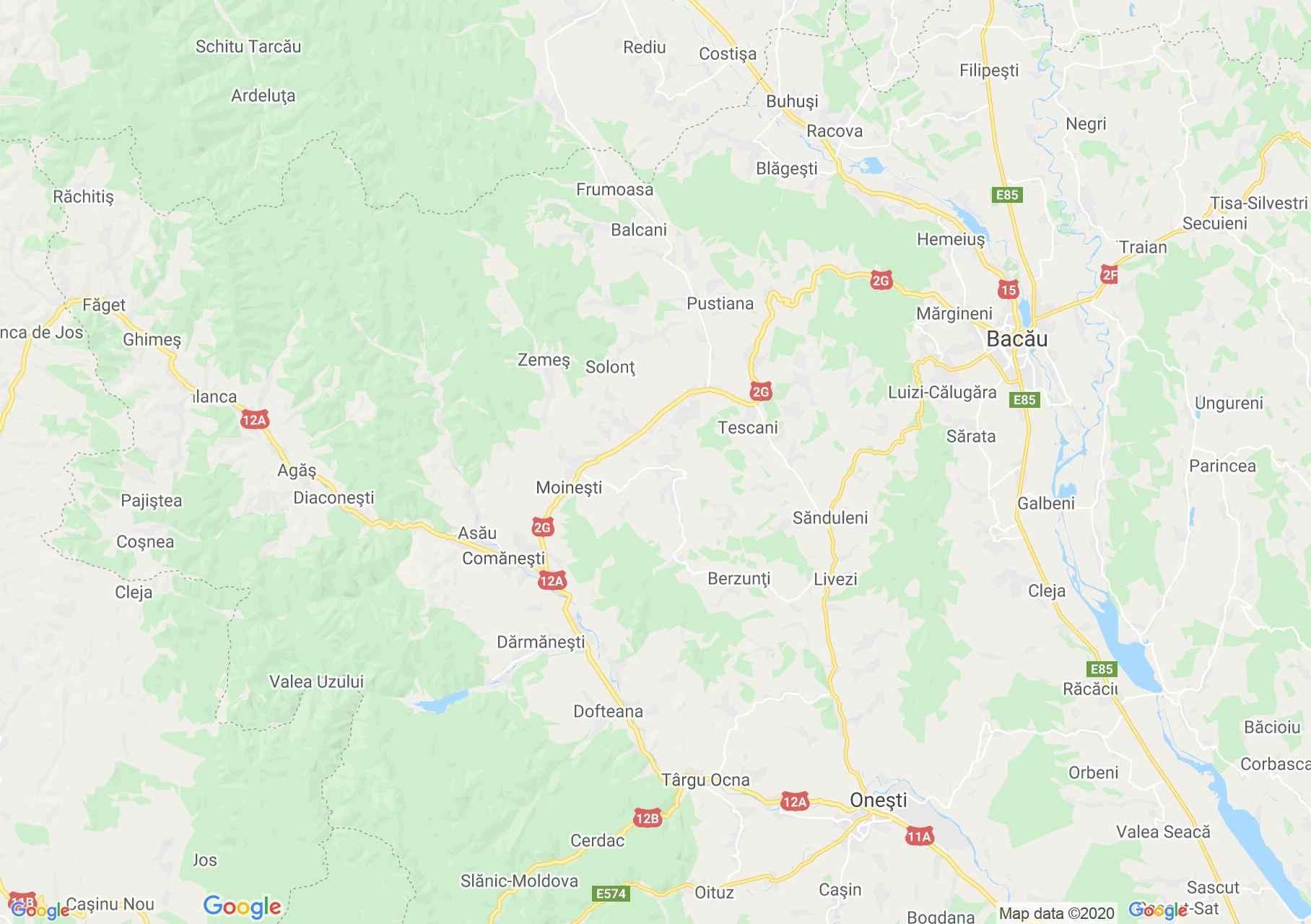 Folklor: Moldvai csángók népviselete (térkép)