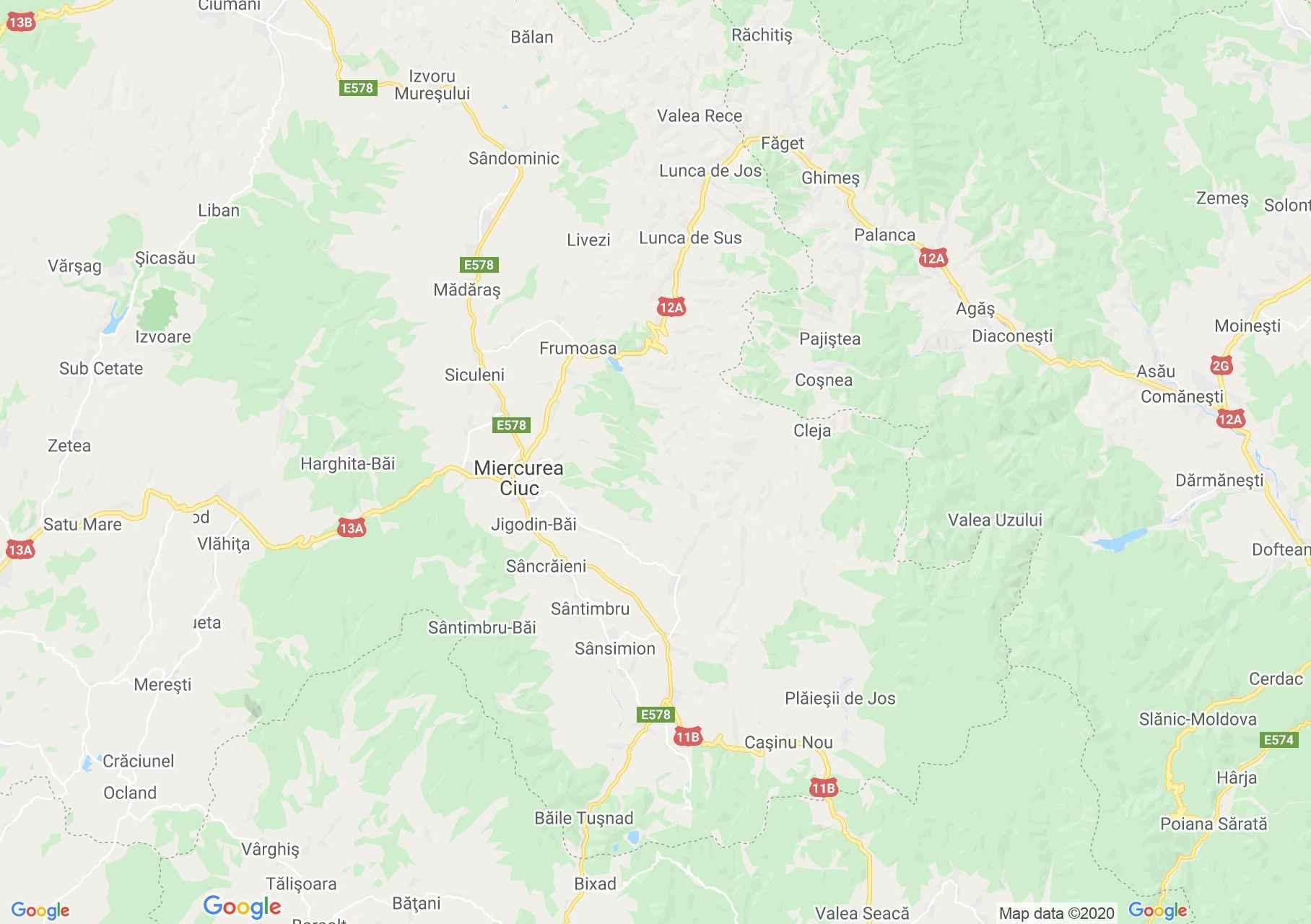 Folklor: Alcsíki népviselet  (térkép)