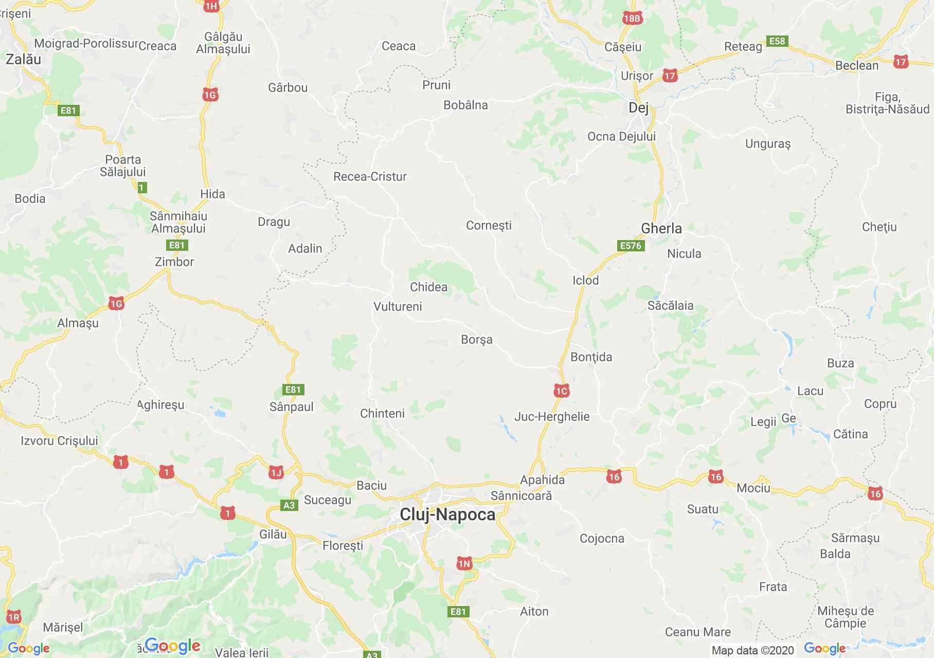 Folklor: Hóstát - Kolozsvári népviselet  (térkép)