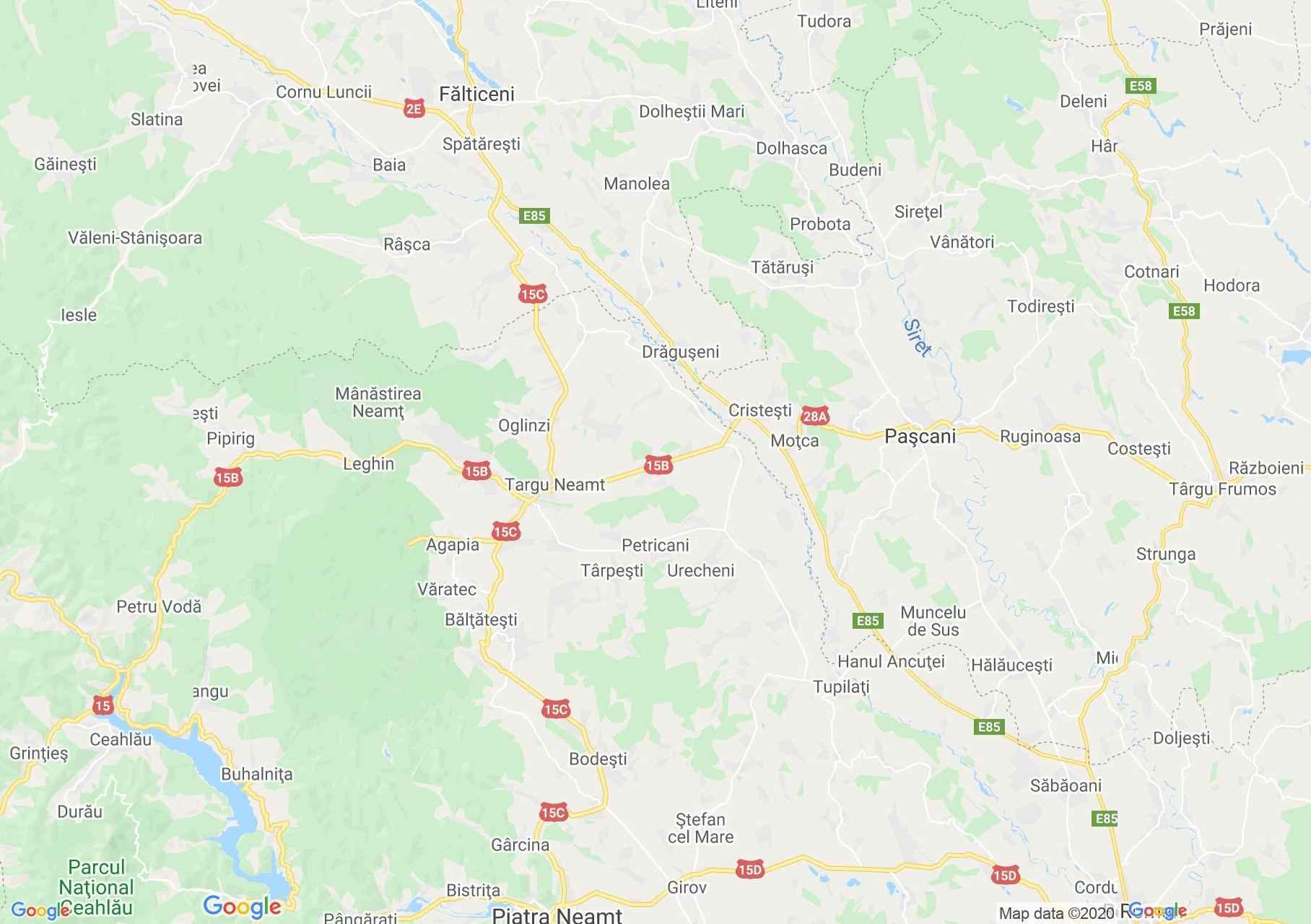 Folklor: Neamţ-i népviselet  (térkép)