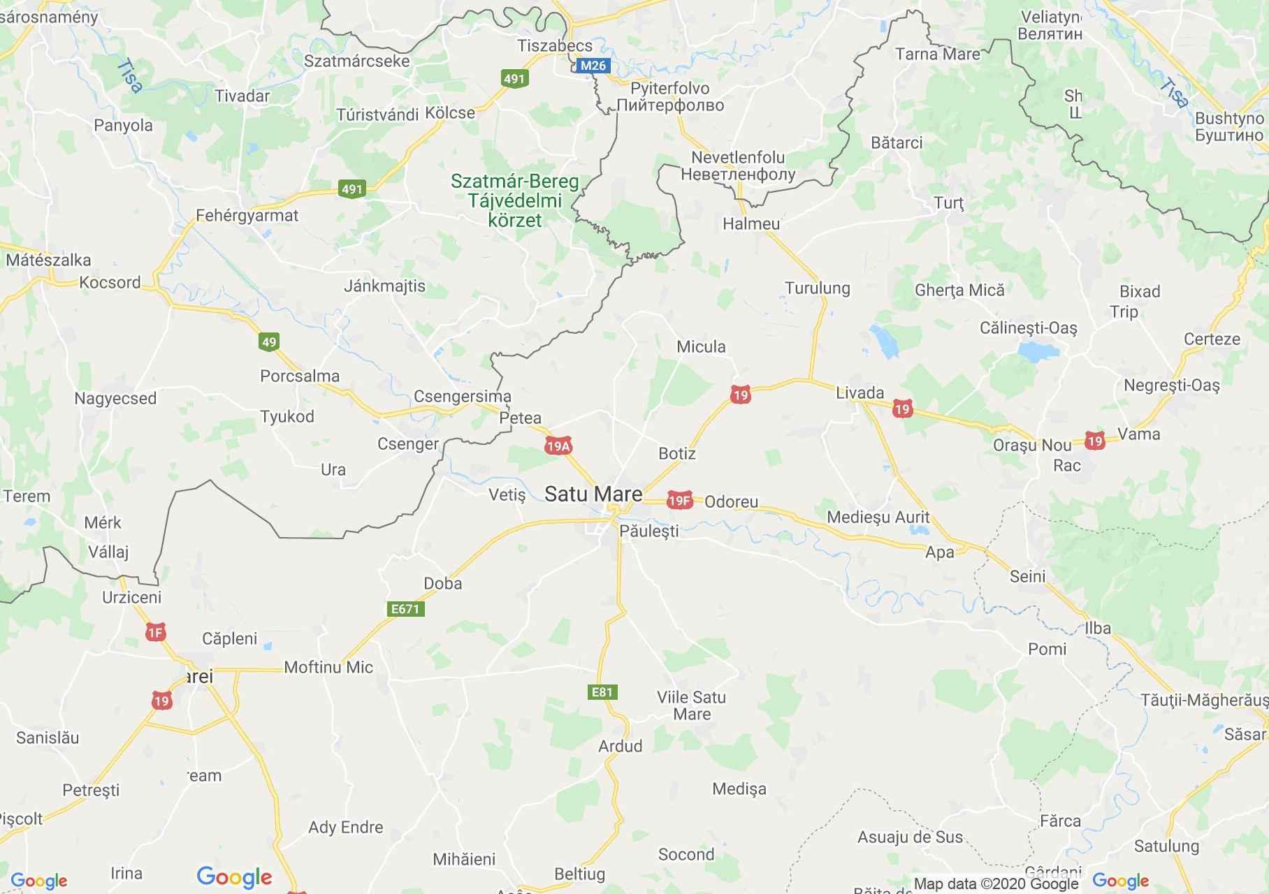 Hartă Folclor: Portul popular din Sătmar