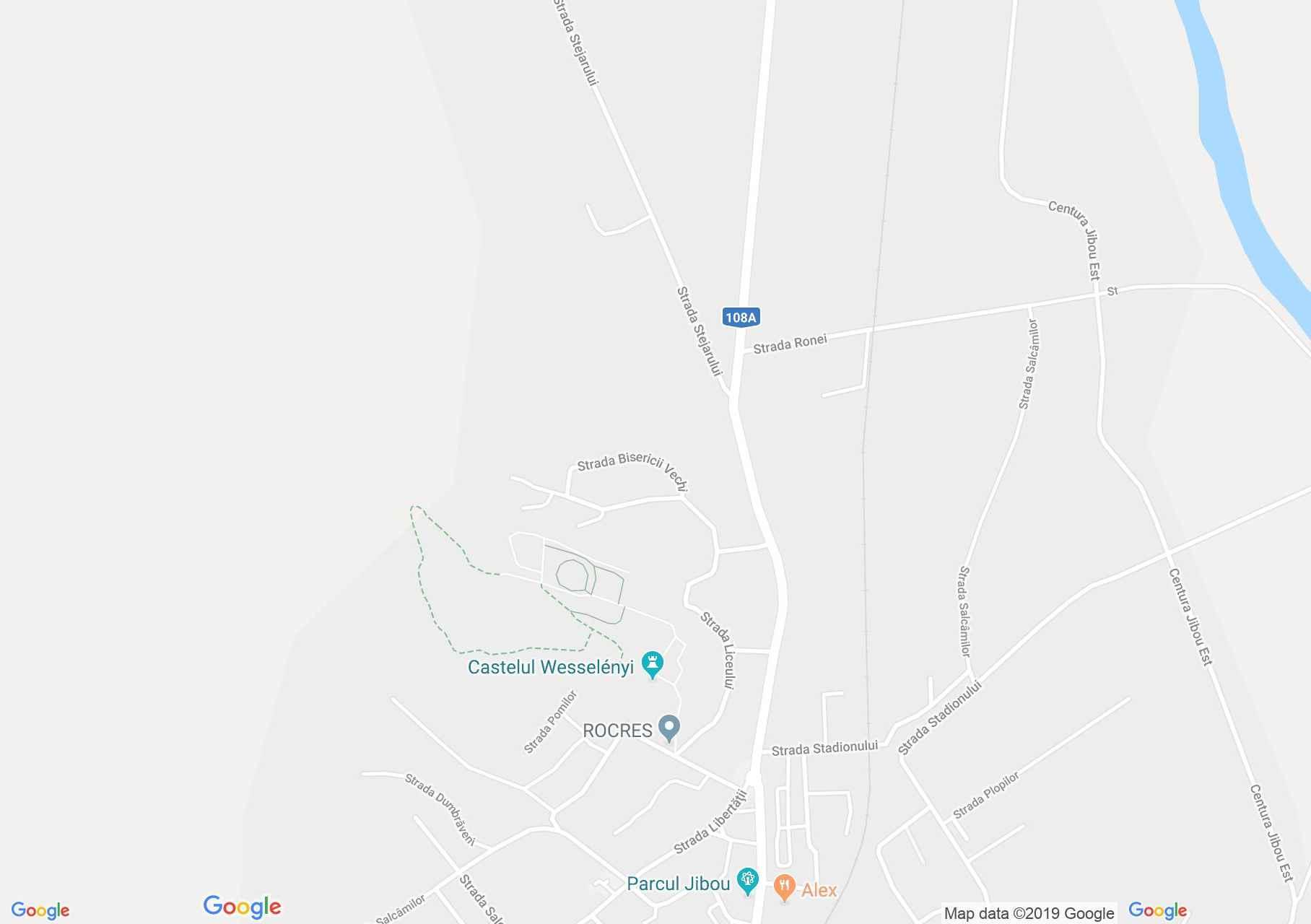 Hartă Jibou: Castelul Wesselényi