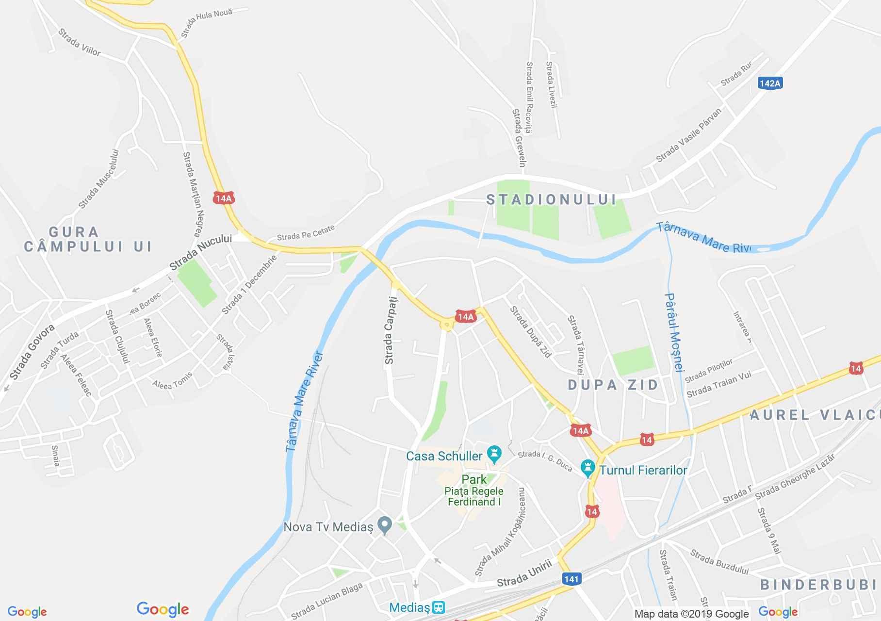 Map of Mediaş: House of Hann