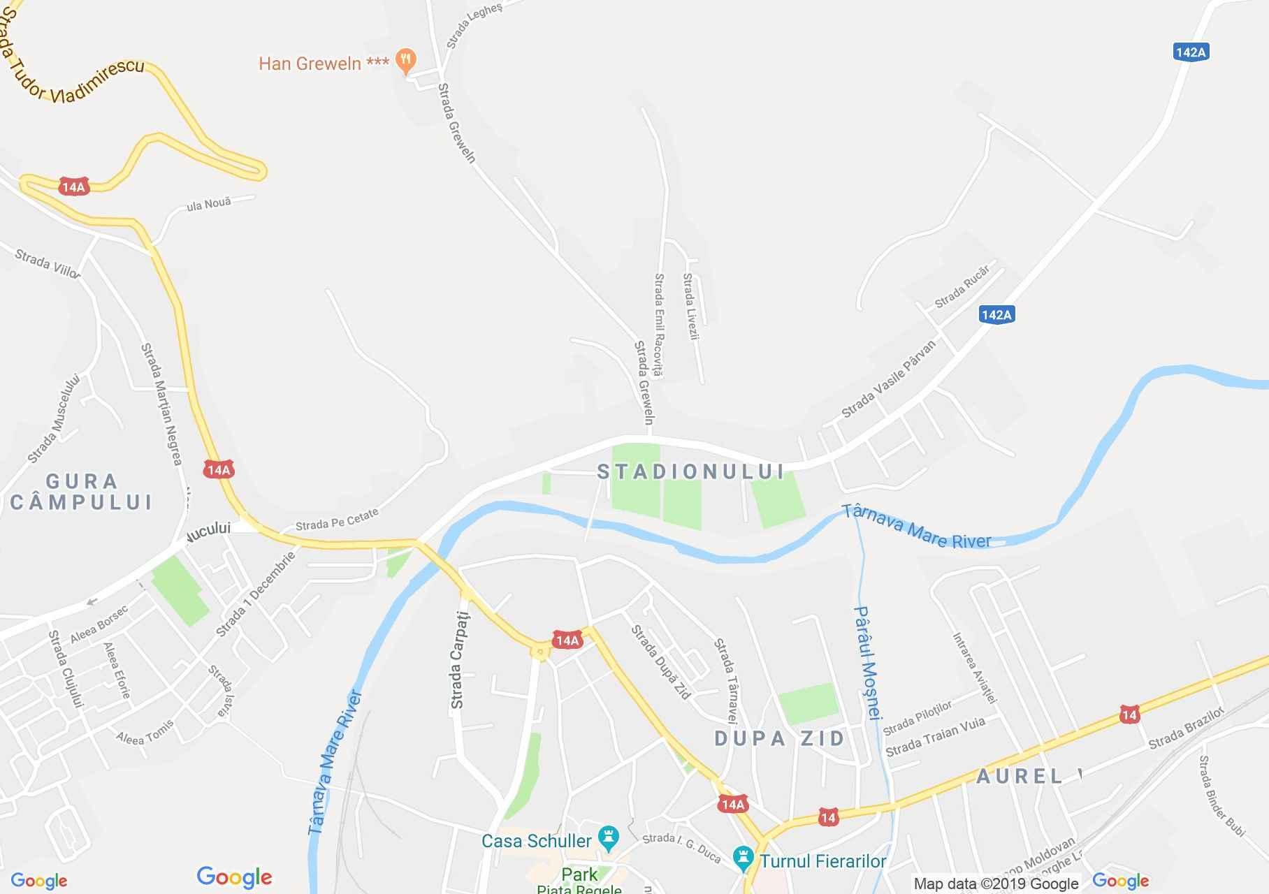 Hartă Mediaş: Biserica franciscană