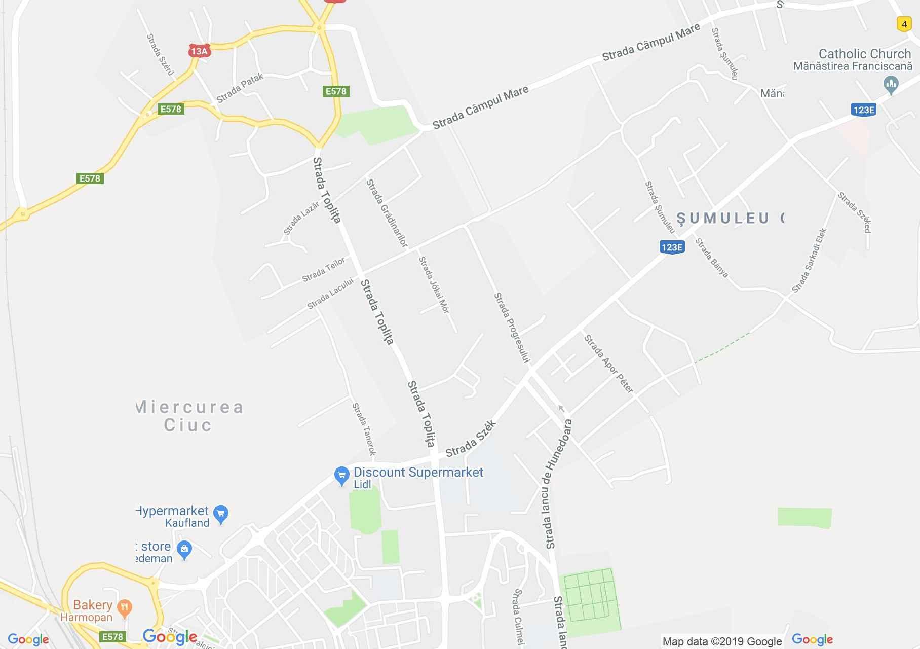 Csíkszereda: Márton Áron középiskola (térkép)