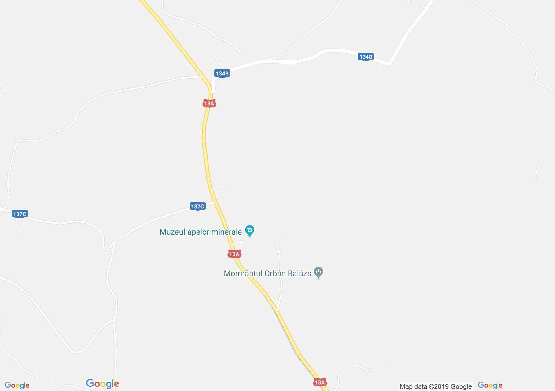 Map of Odorheiu Secuiesc: Szejke Bath, Protected area