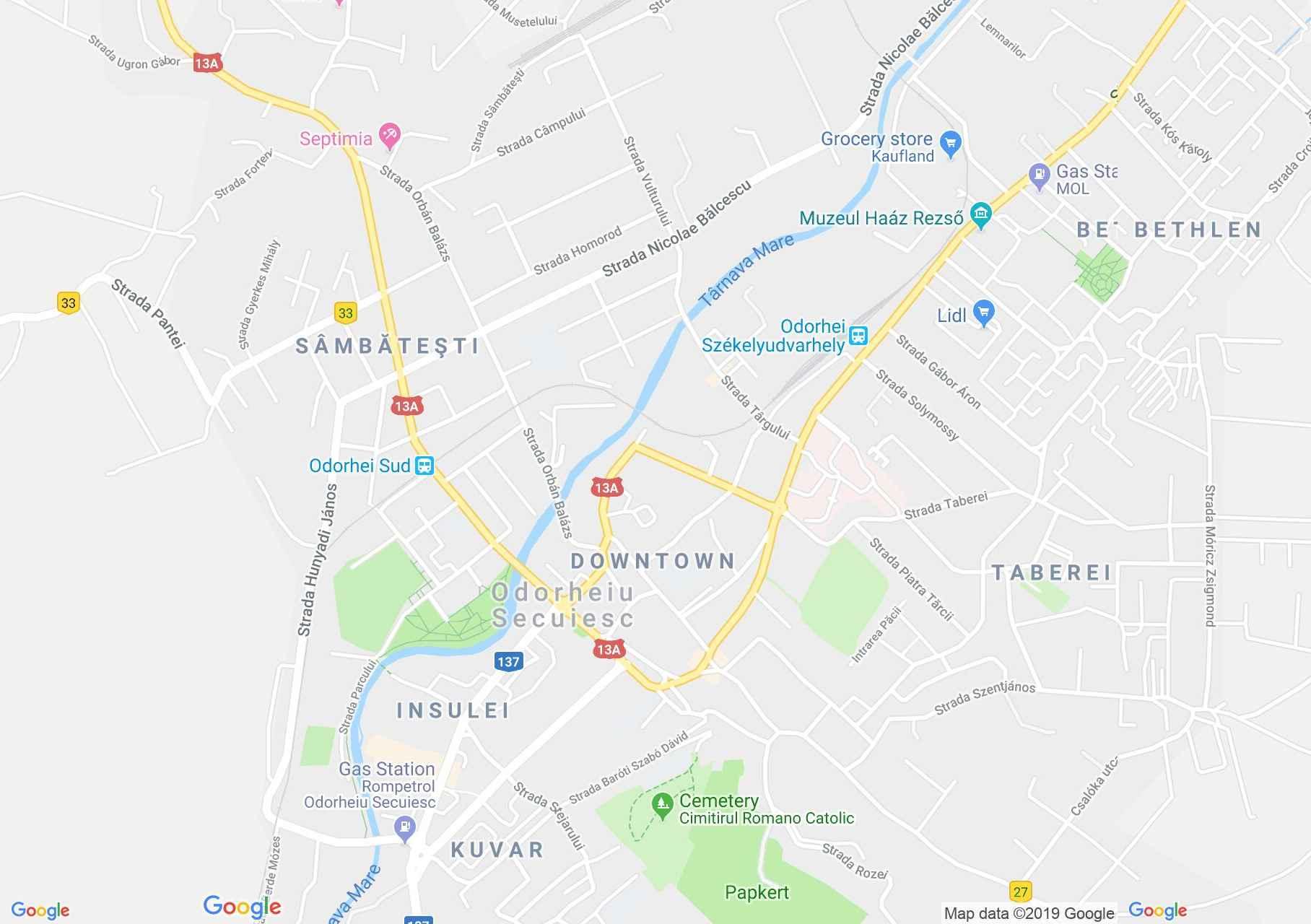 Székelyudvarhely: Ferencesek temploma (térkép)