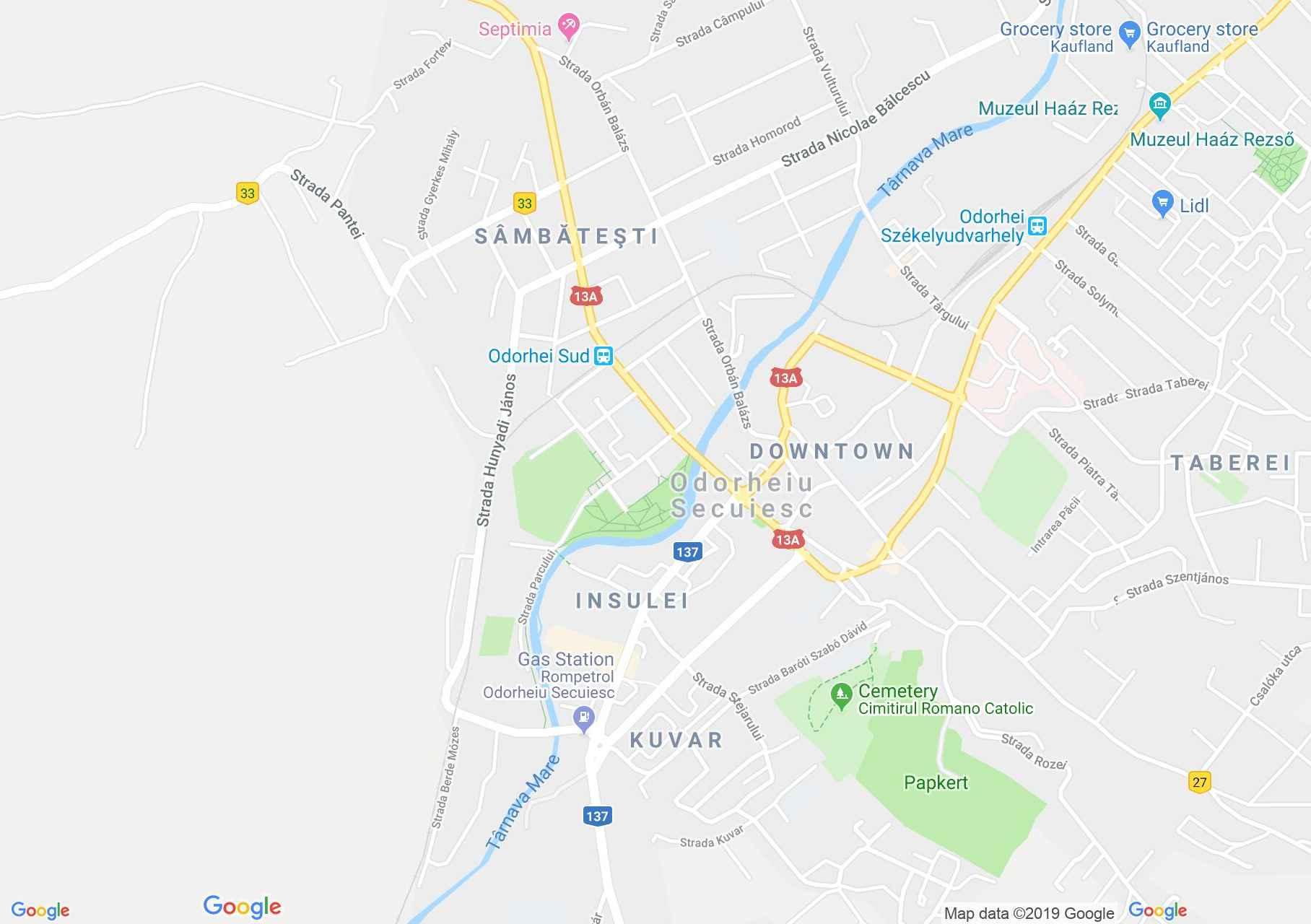 Map of Odorheiu Secuiesc: Refomed Church