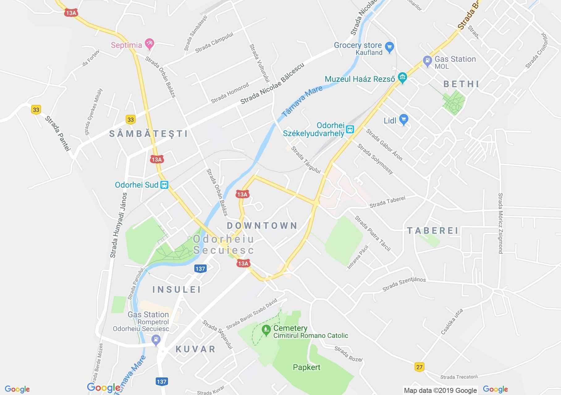Székelyudvarhely: Zárda (térkép)