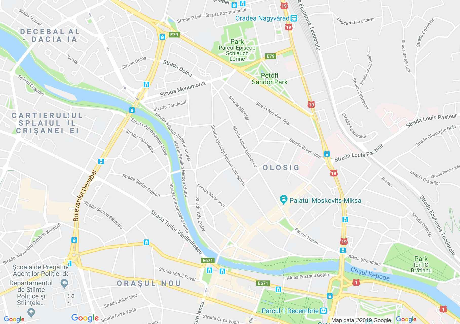 Map of Oradea: The Astoria Hotel