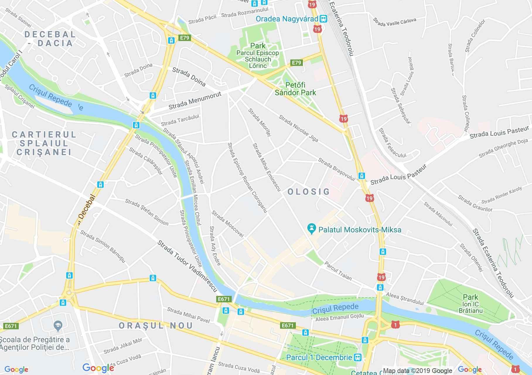 Hartă Oradea: Bazarul