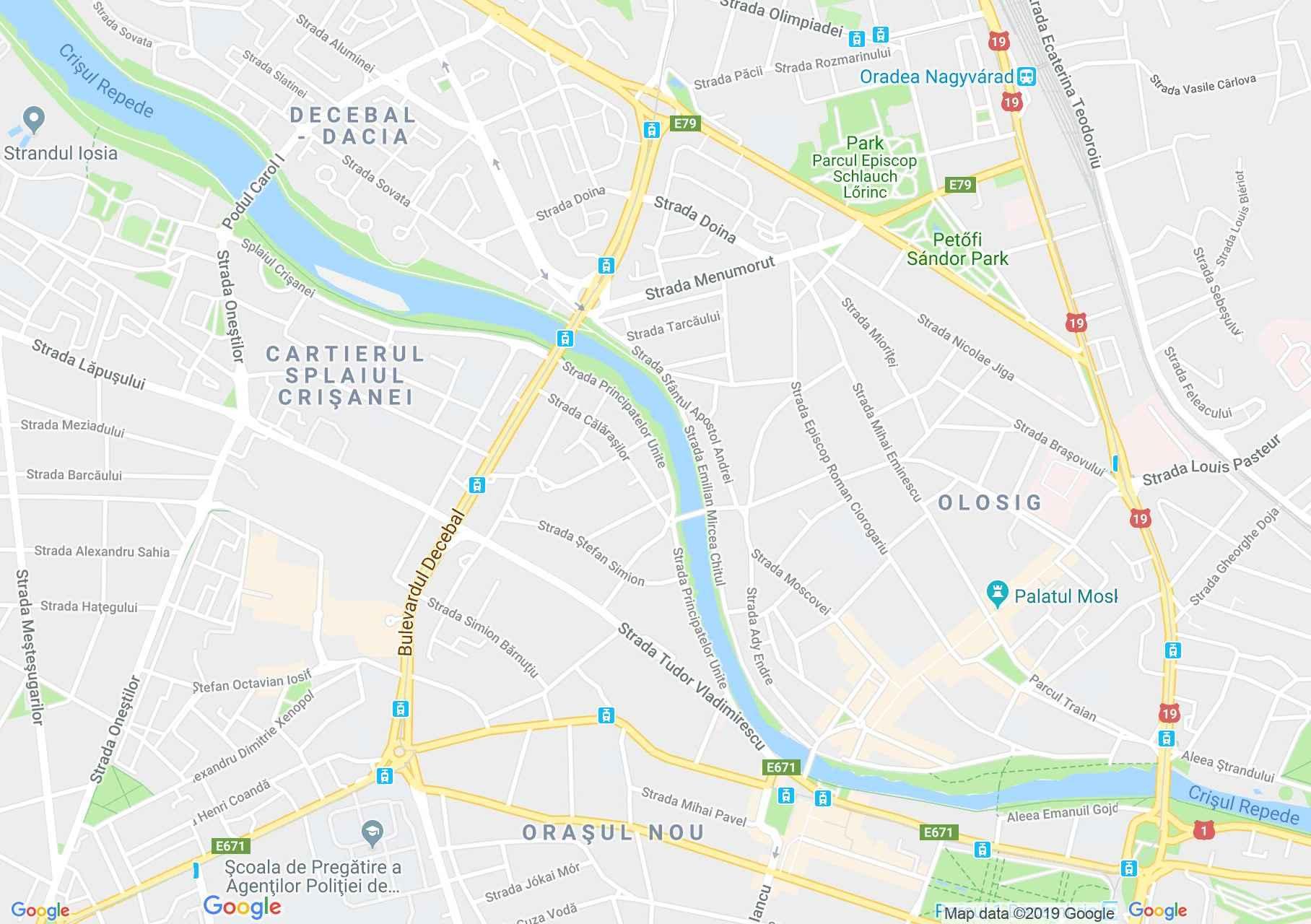 Hartă Oradea: Biserica evanghelică-luterană