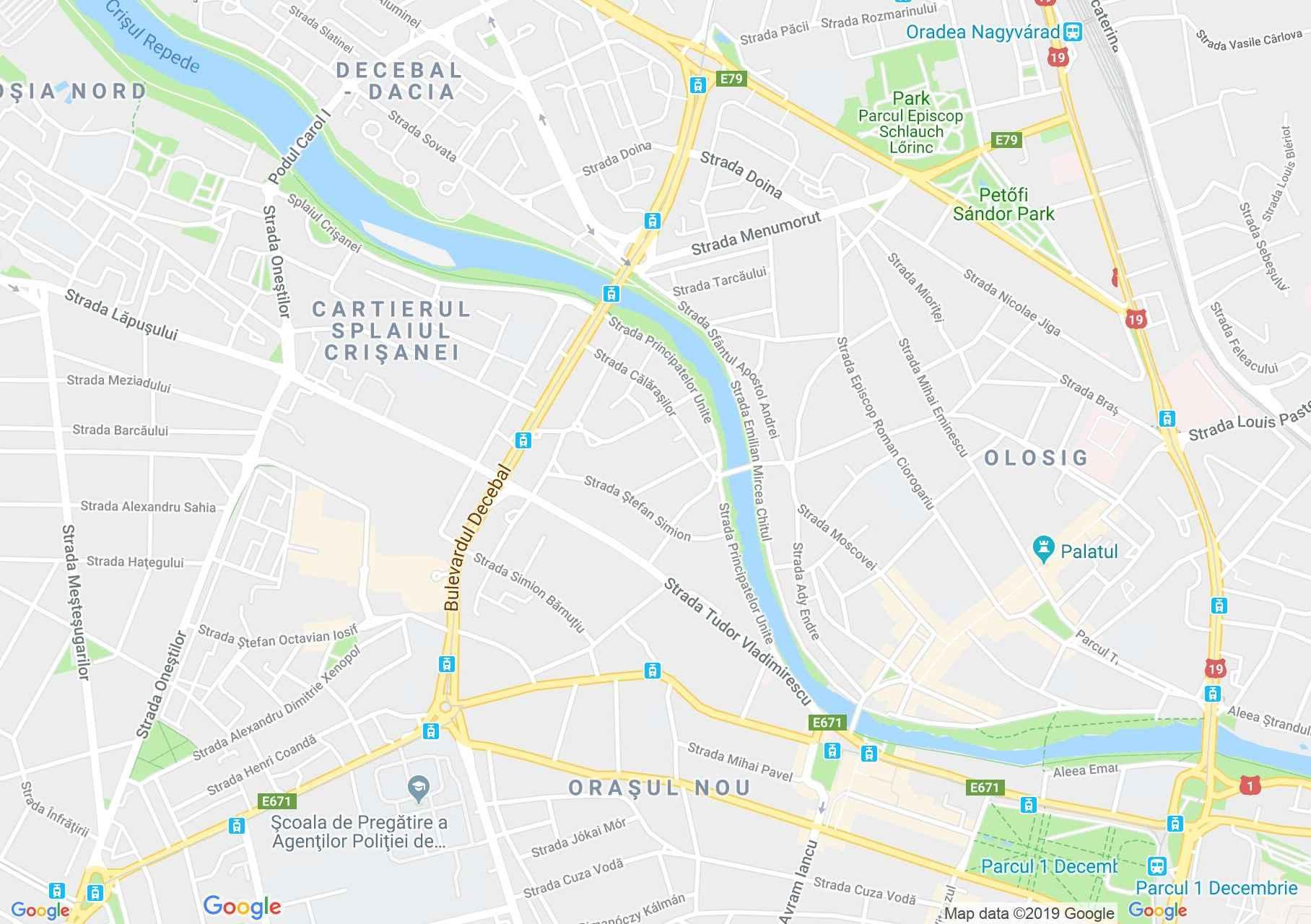 Hartă Oradea: Biserica reformată