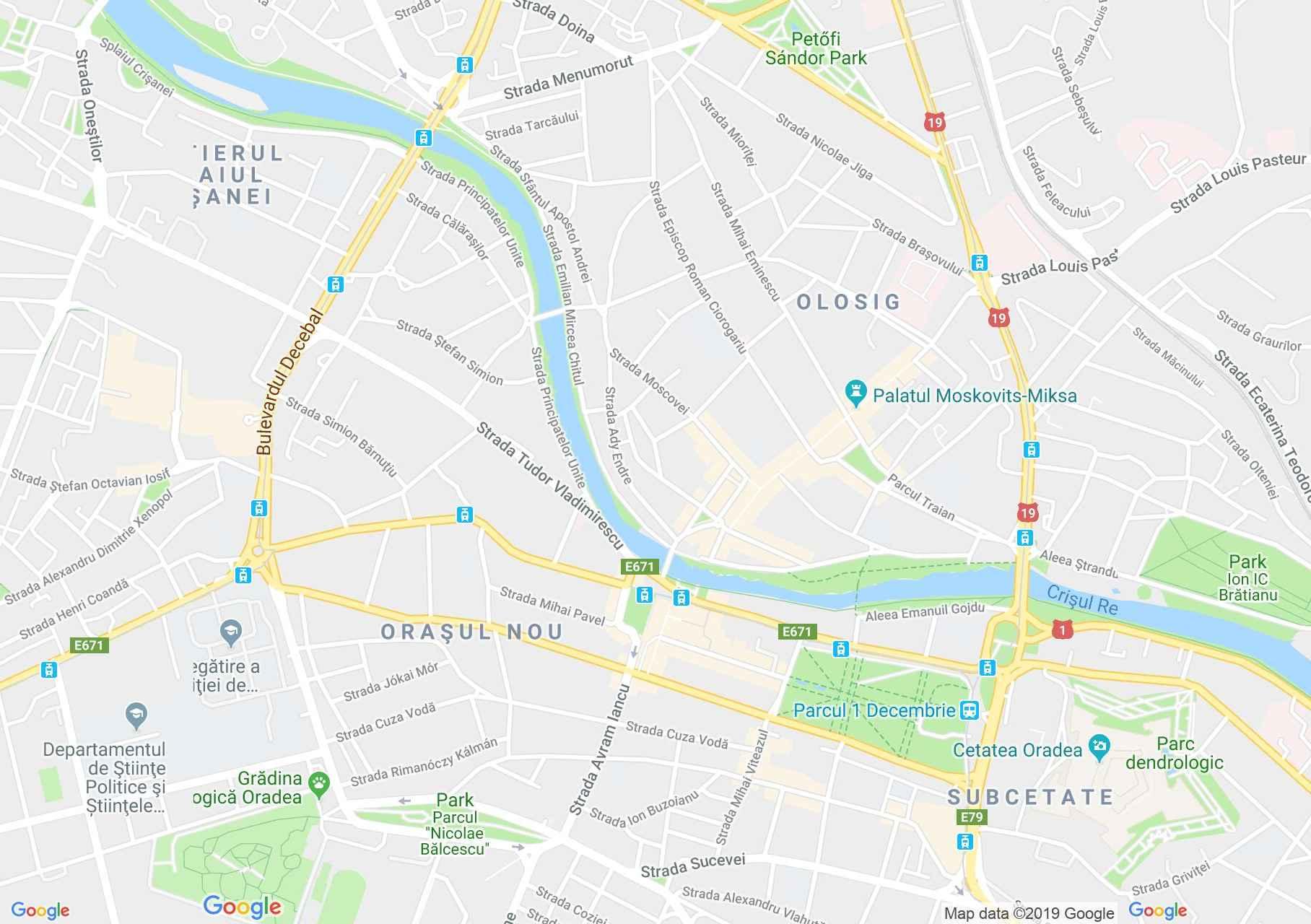 Hartă Oradea: Biserica cu lună