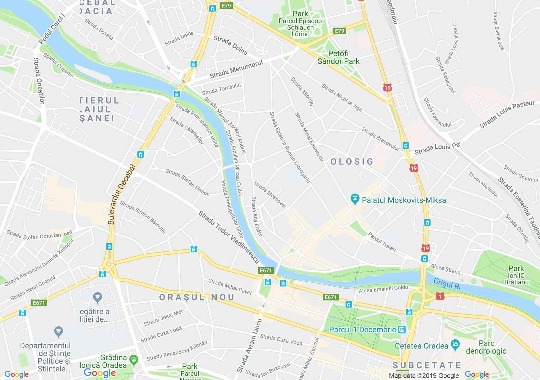 Hartă Oradea: Biserica Sfântul Ladislau