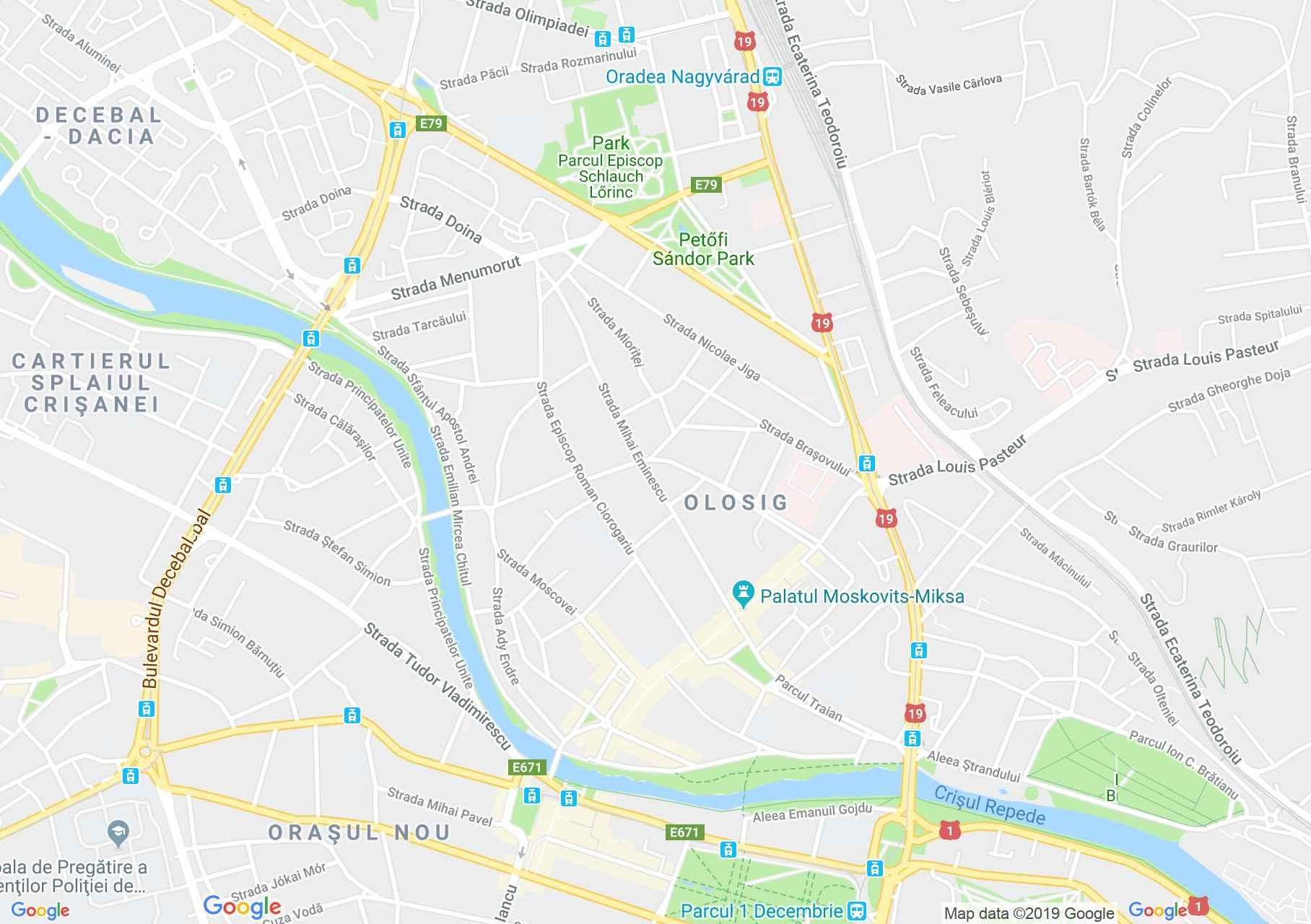 Hartă Oradea: Biserica Ursulinelor