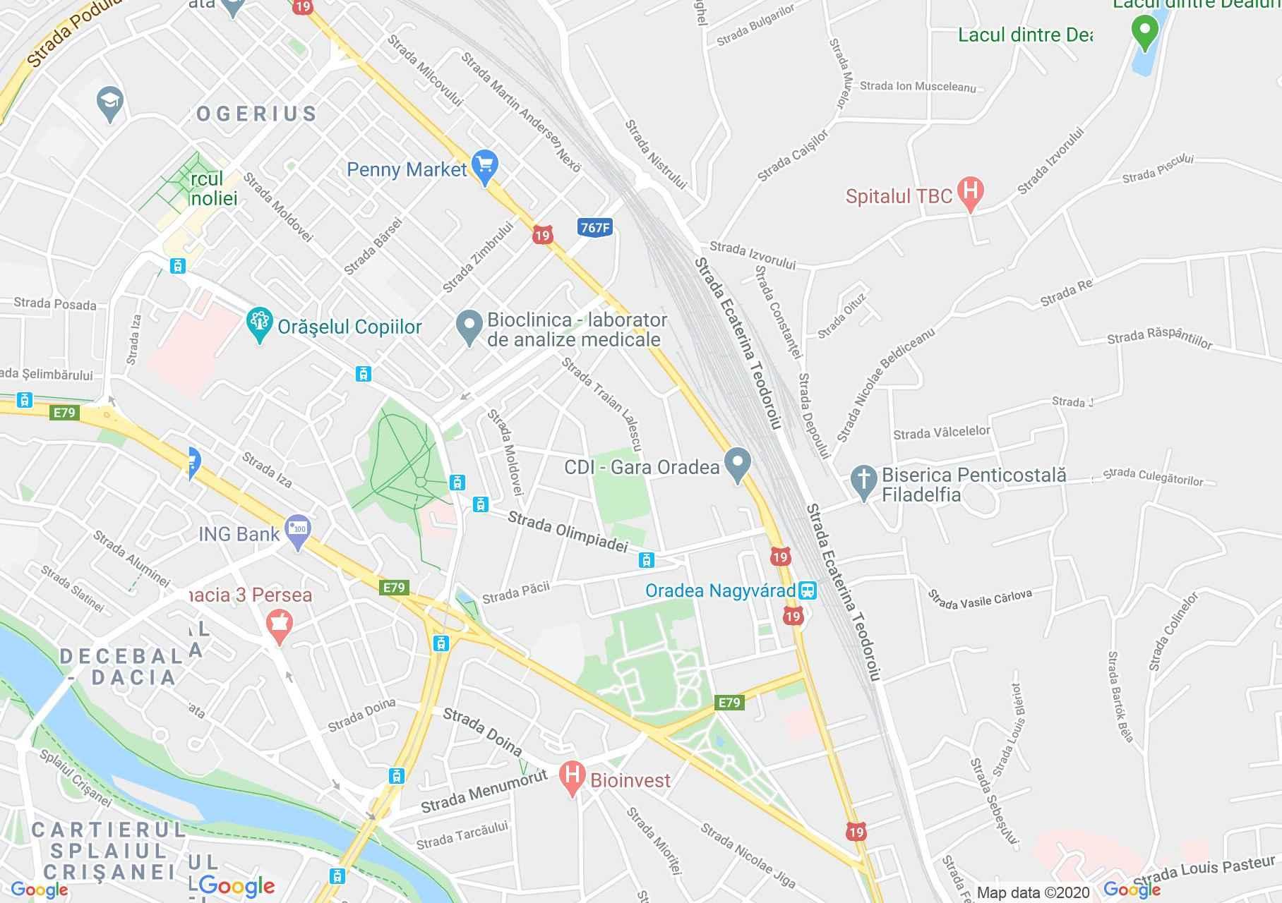 Hartă Oradea: Capela palatului episcopal romano-catolic
