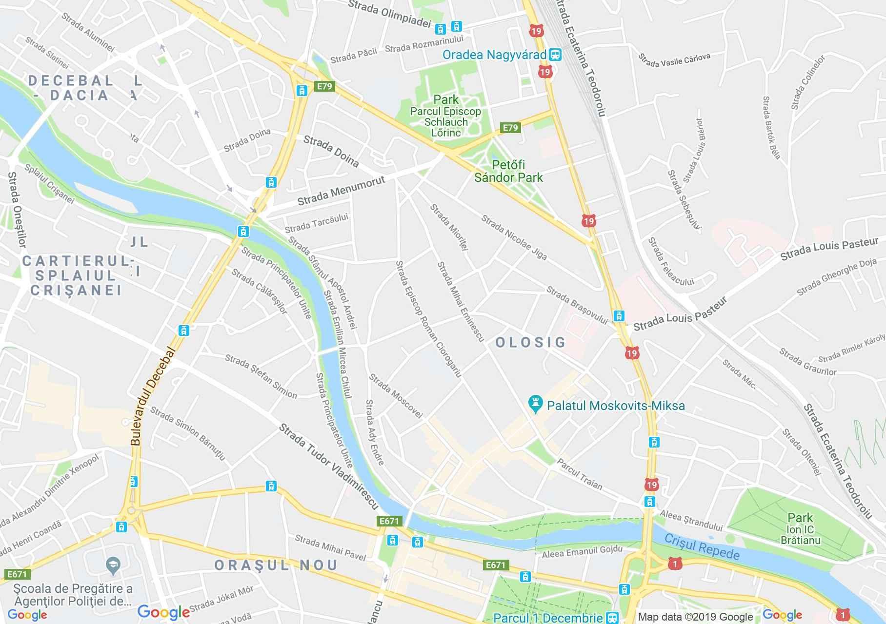 Map of Oradea: Adorjan house II