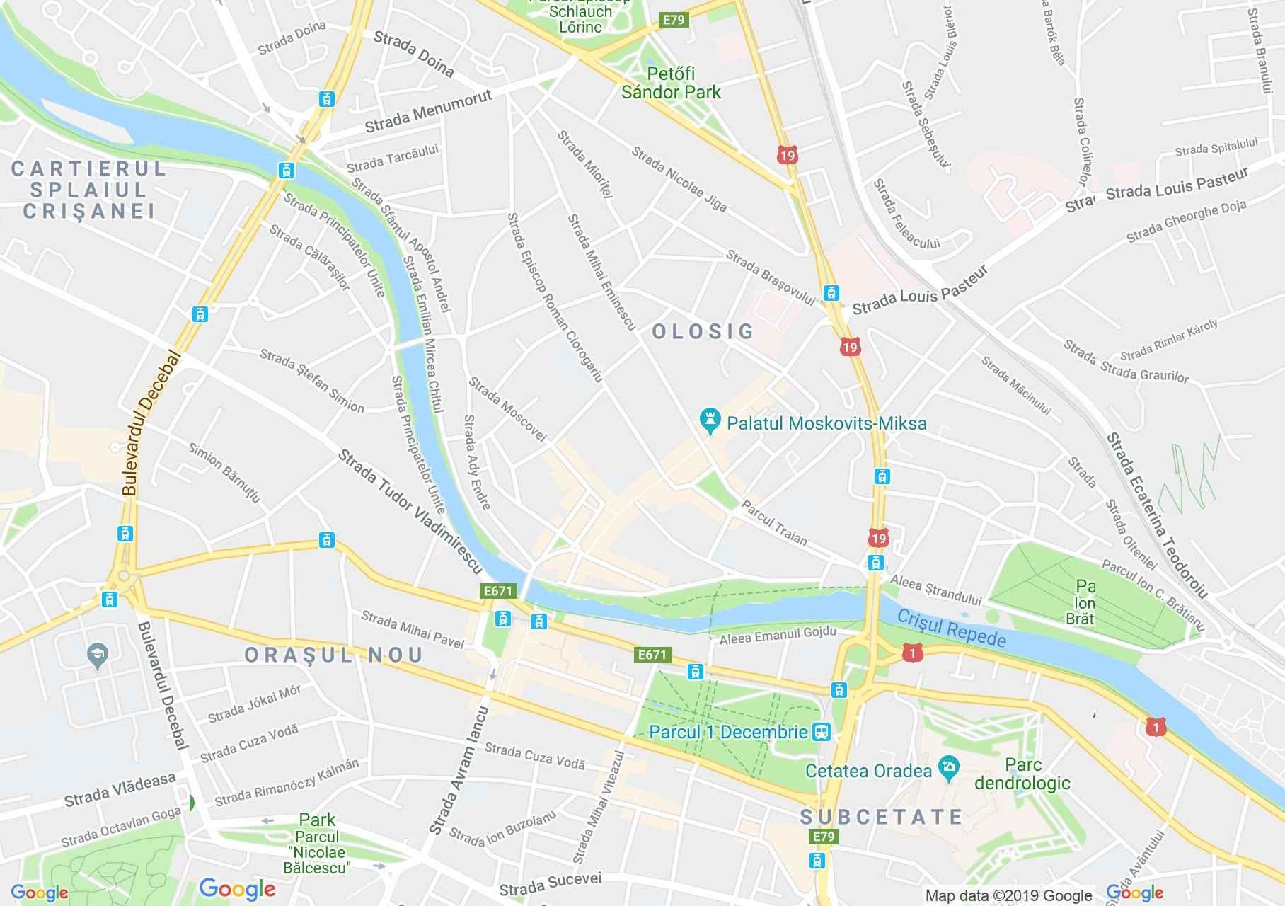 Nagyvárad: Fuchsl ház (térkép)