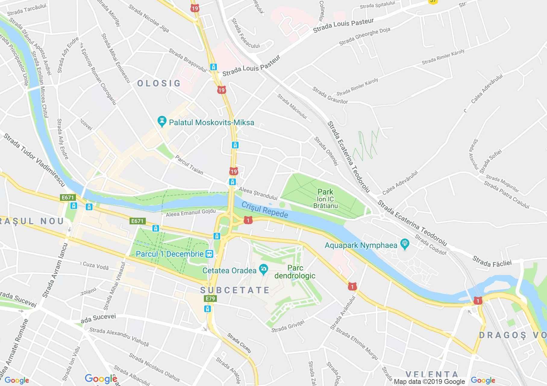 Hartă Oradea: Cetatea