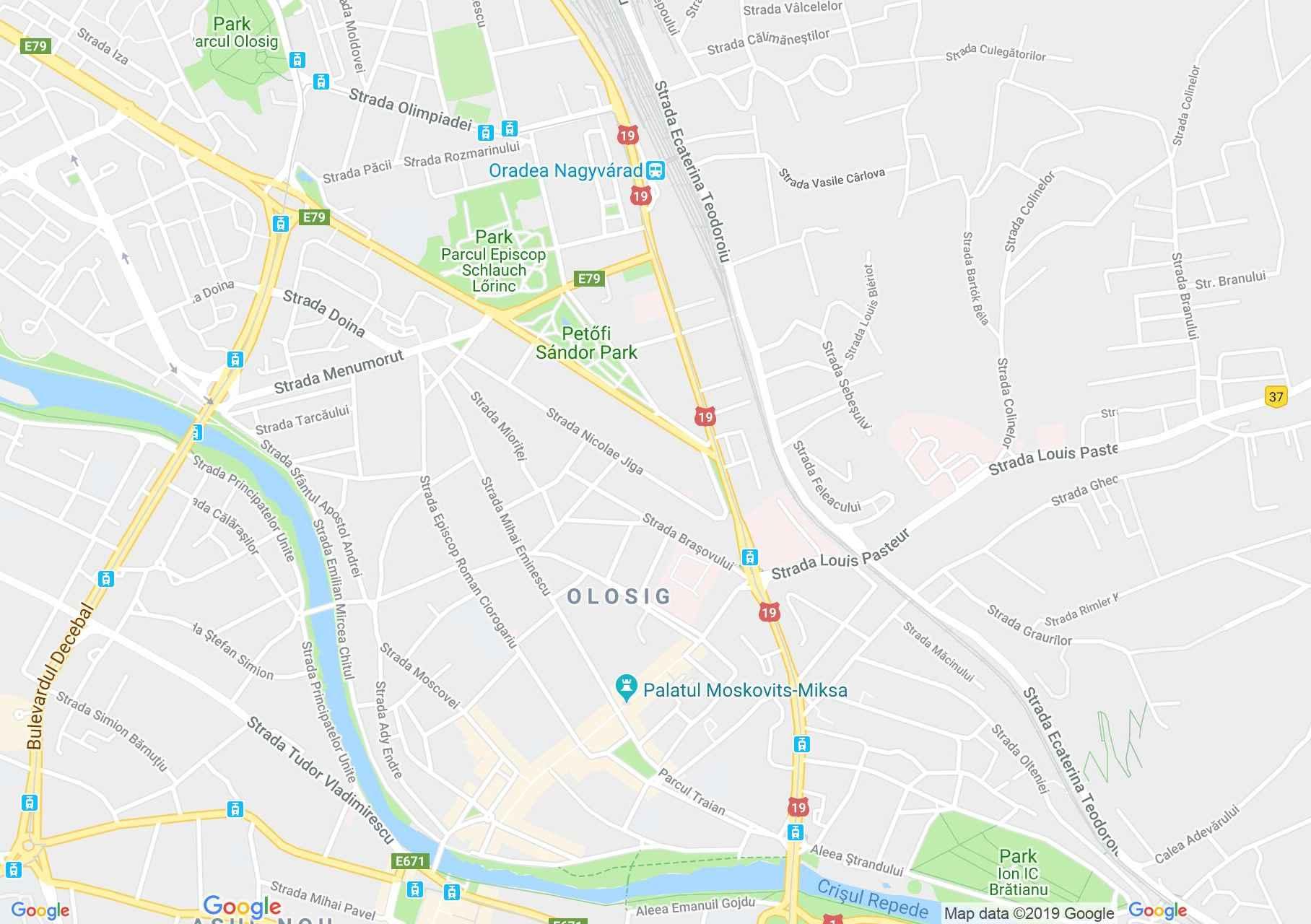 Hartă Oradea: Cofetăria Minerva