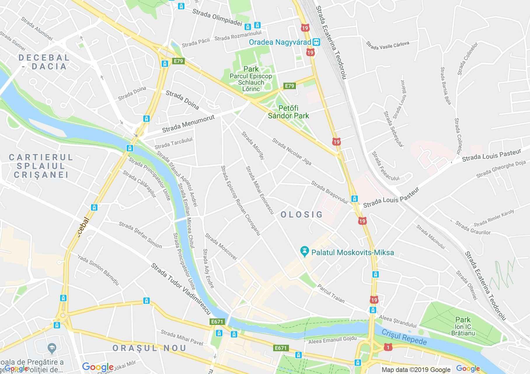 Nagyvárad: Orsolya zárda épülete (térkép)