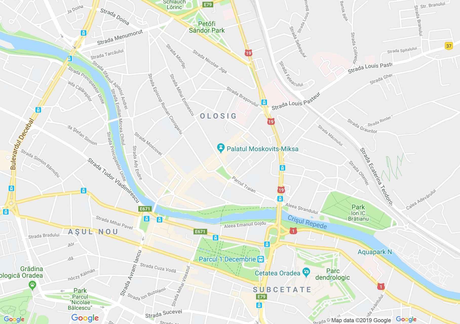 Hartă Oradea: Facultatea de medicină