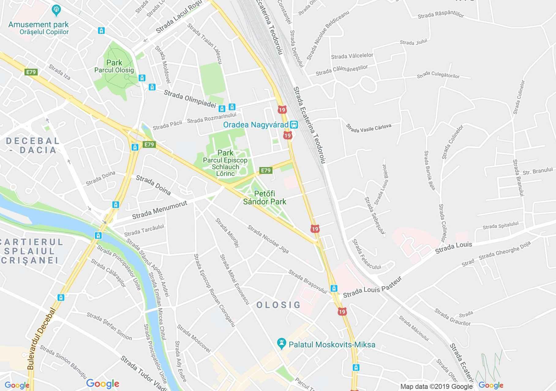 Map of Oradea: Hotel Maxim