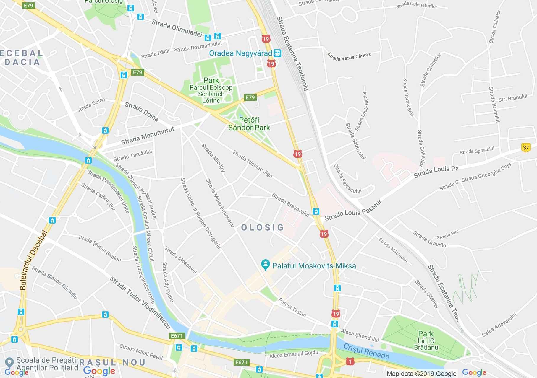 Nagyvárad: Moskovits palota (térkép)