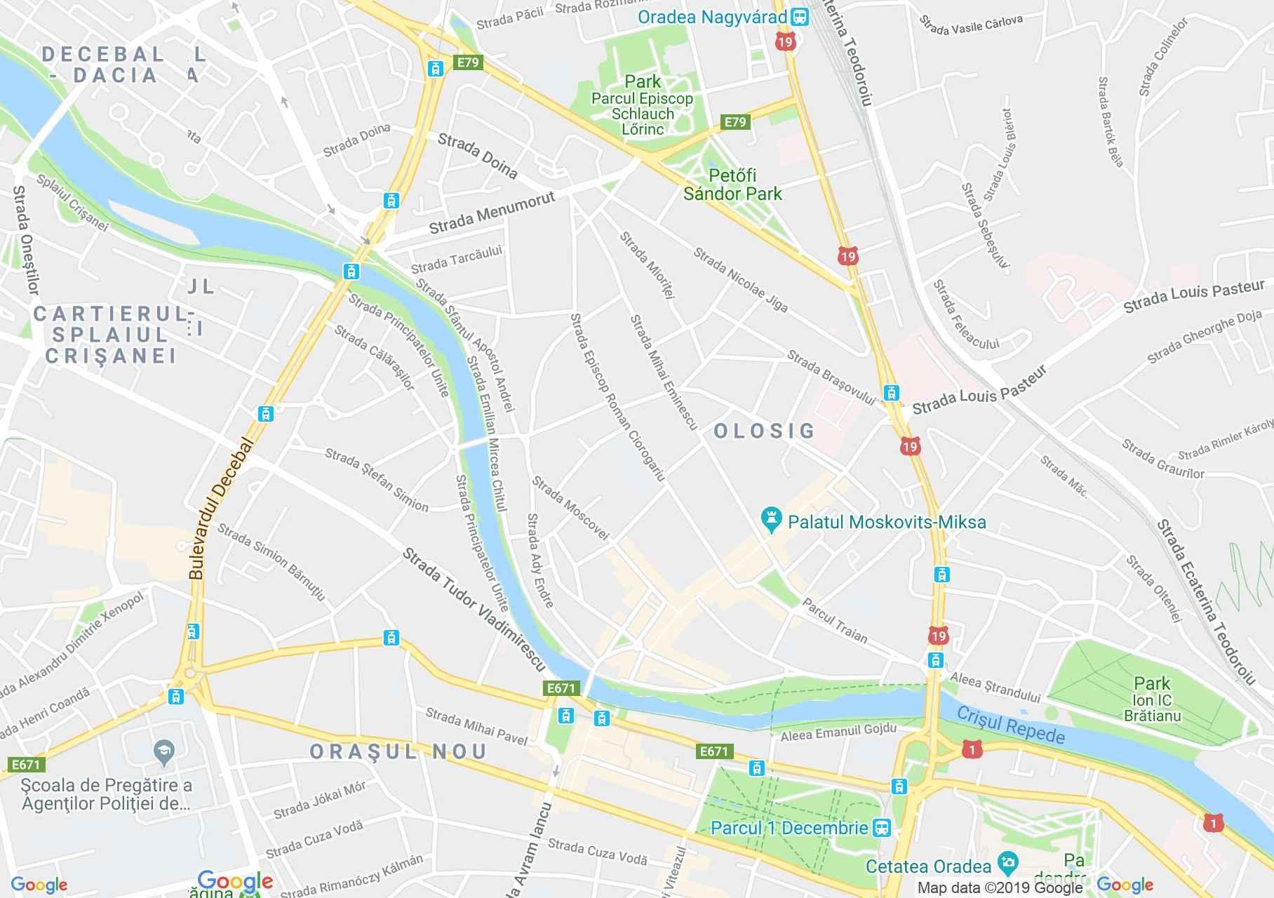 Nagyvárad: Poinar palota (térkép)