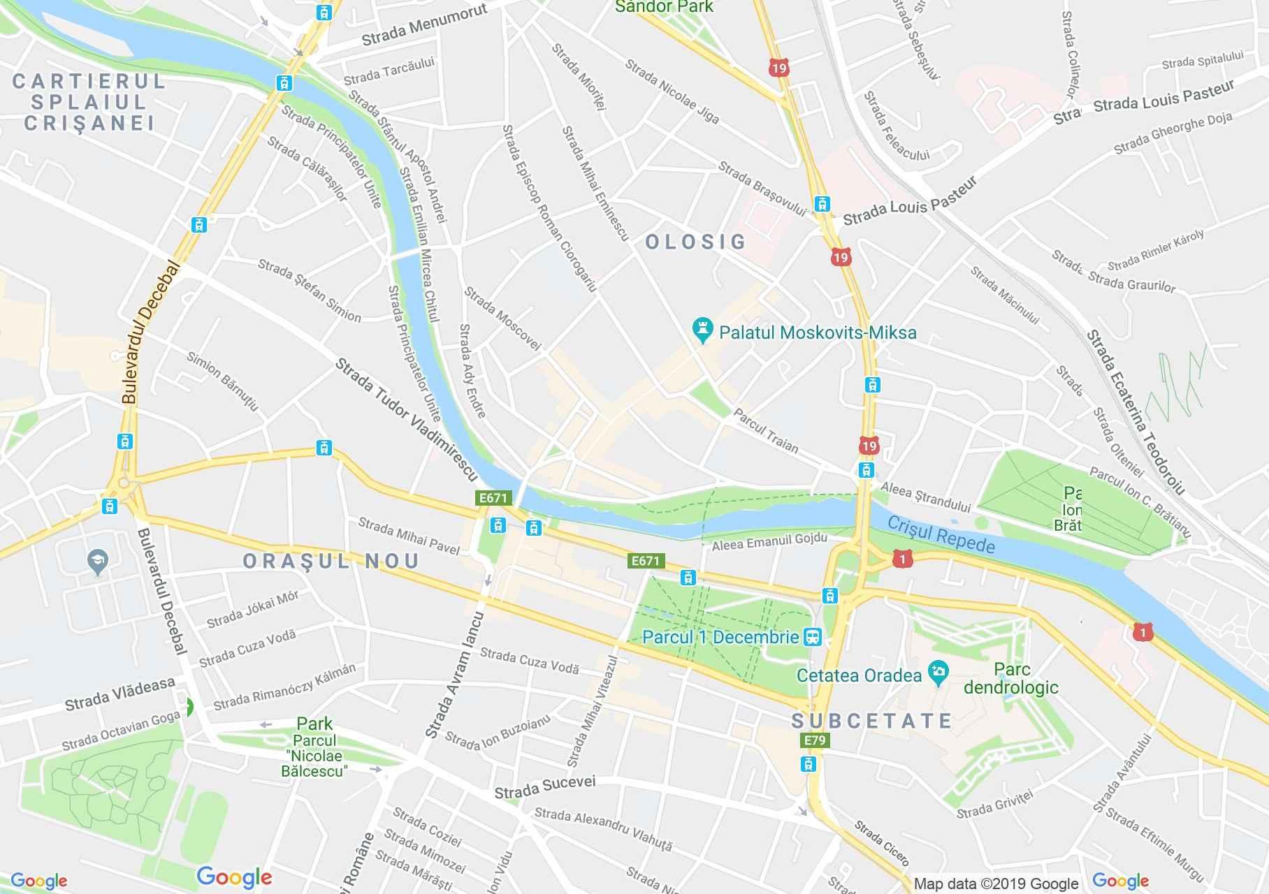 Map of Oradea: The Ulmann Palace