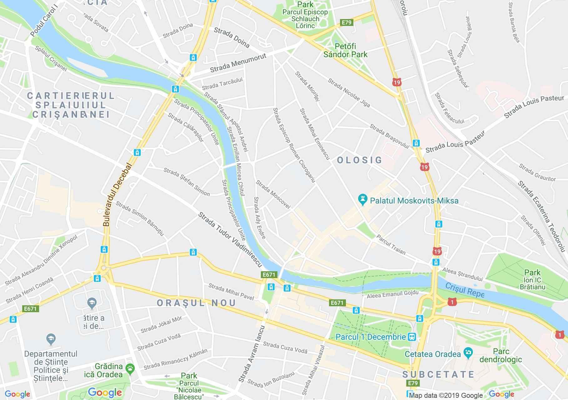 Nagyvárad: Fekete Sas Palota (térkép)