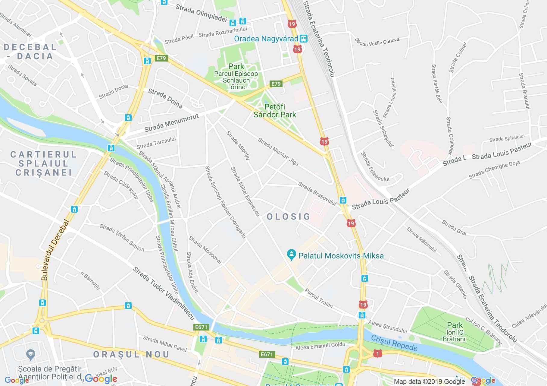 Nagyvárad: Rimanoczy palota (térkép)
